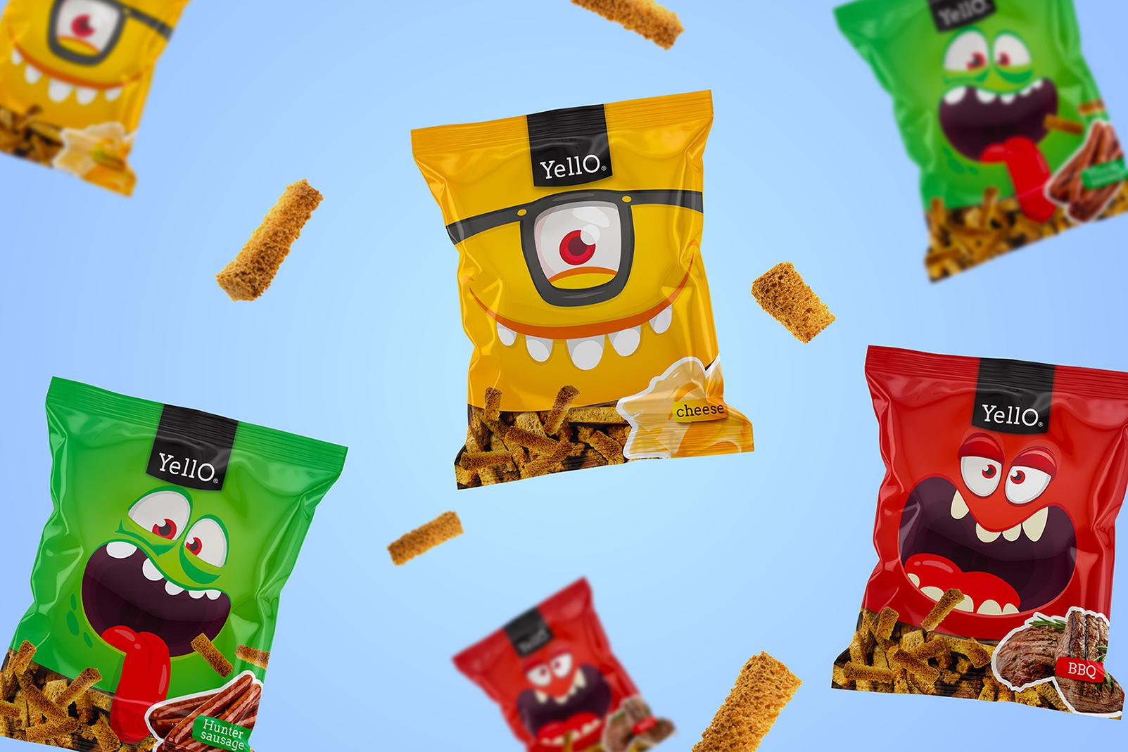 Minim Design Creative Packaging For Yello Snacks