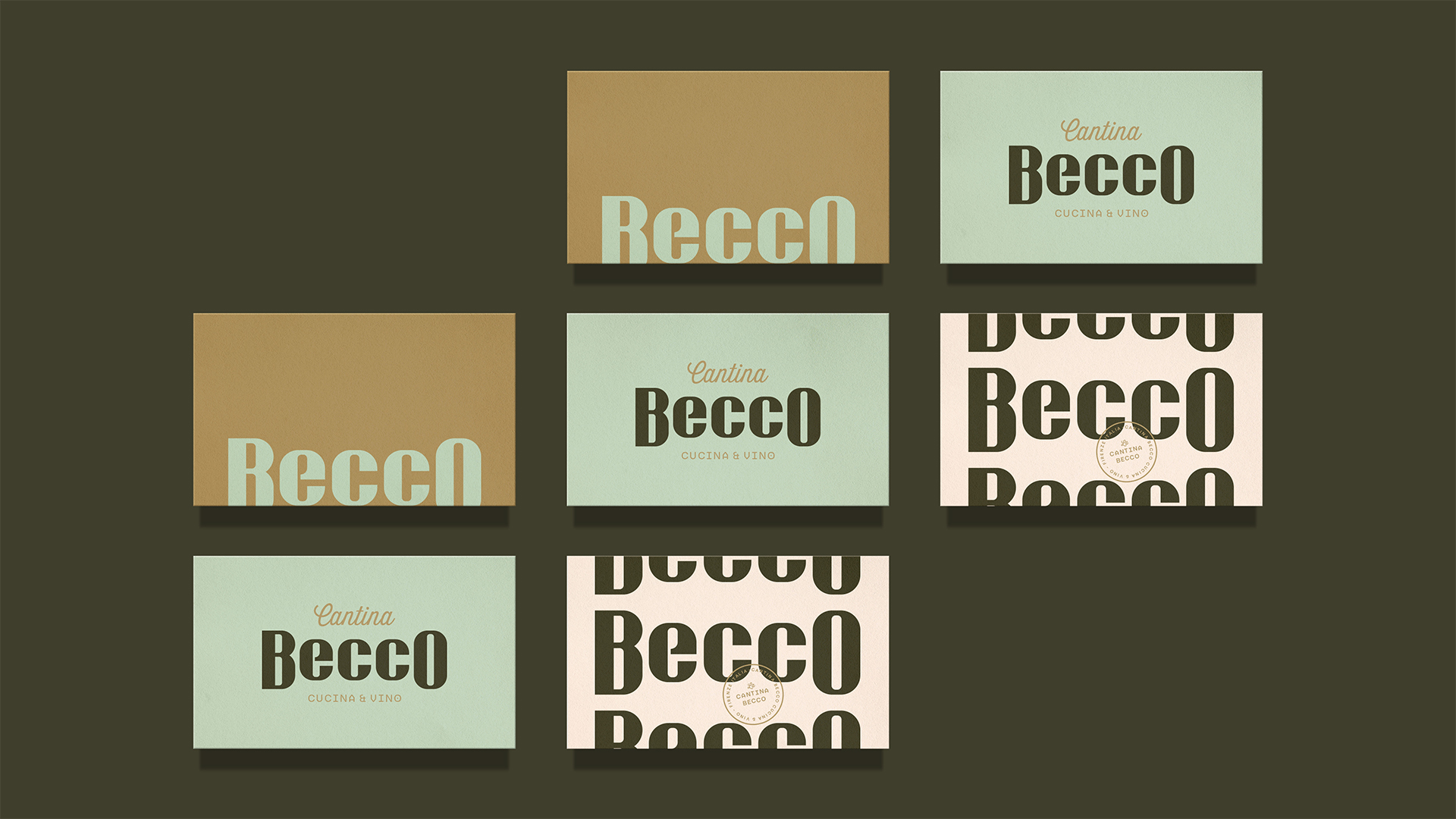 Matheus Nogari Creates Brand for Cantina Becco