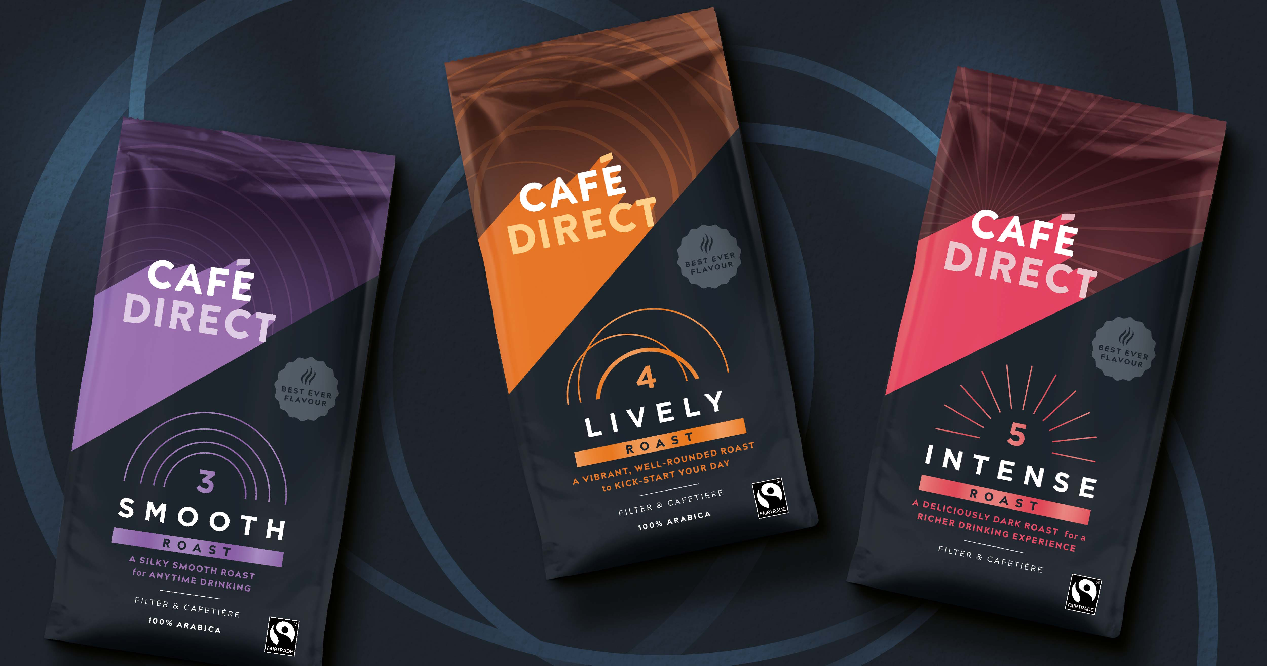Family (and friends) Packaging Design Refresh for Cafédirect, the Ethical Coffee Pioneers