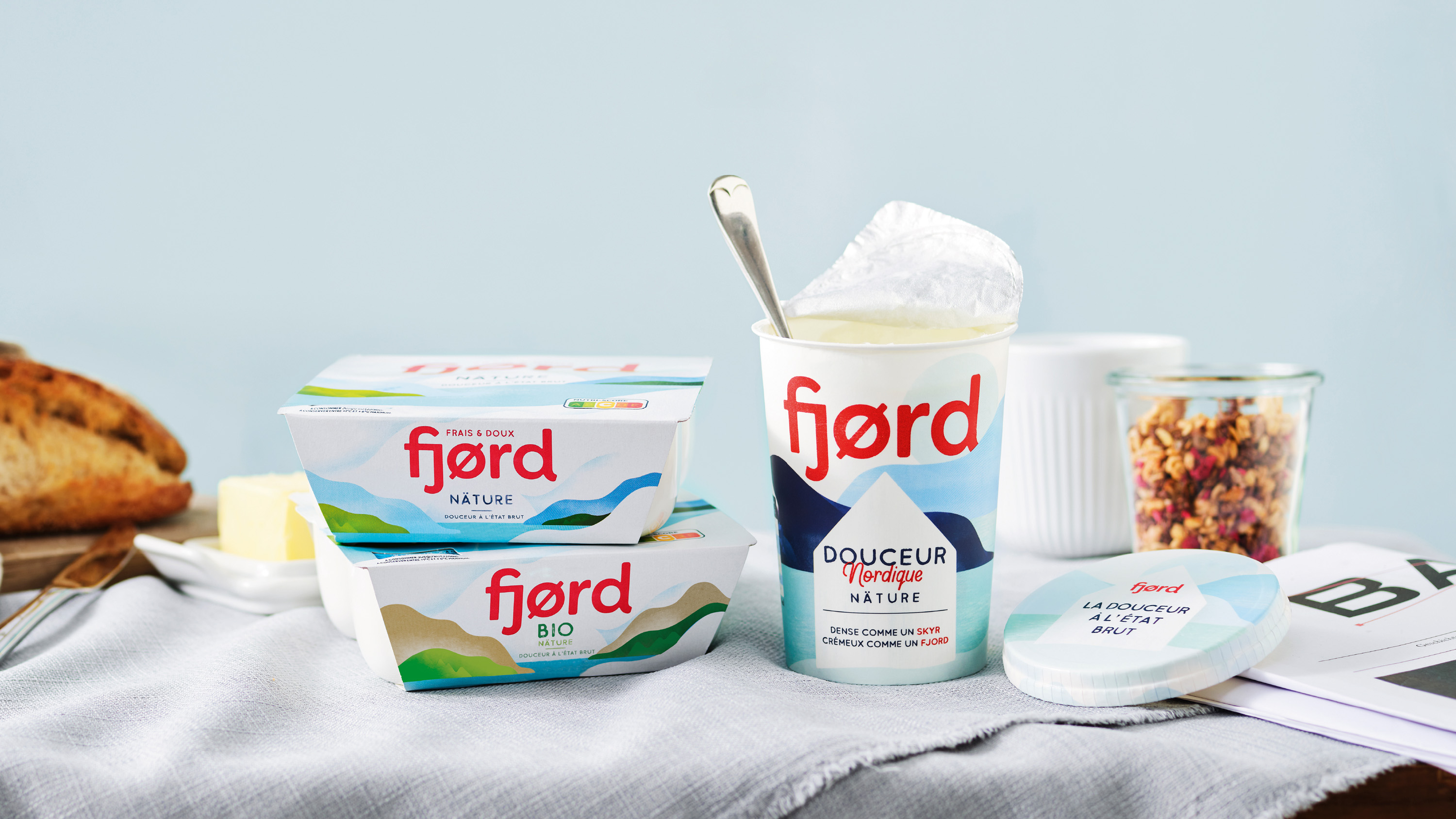 Born in Scandinavia Perfected in France – The New Design for Danone Fjørd by Everland