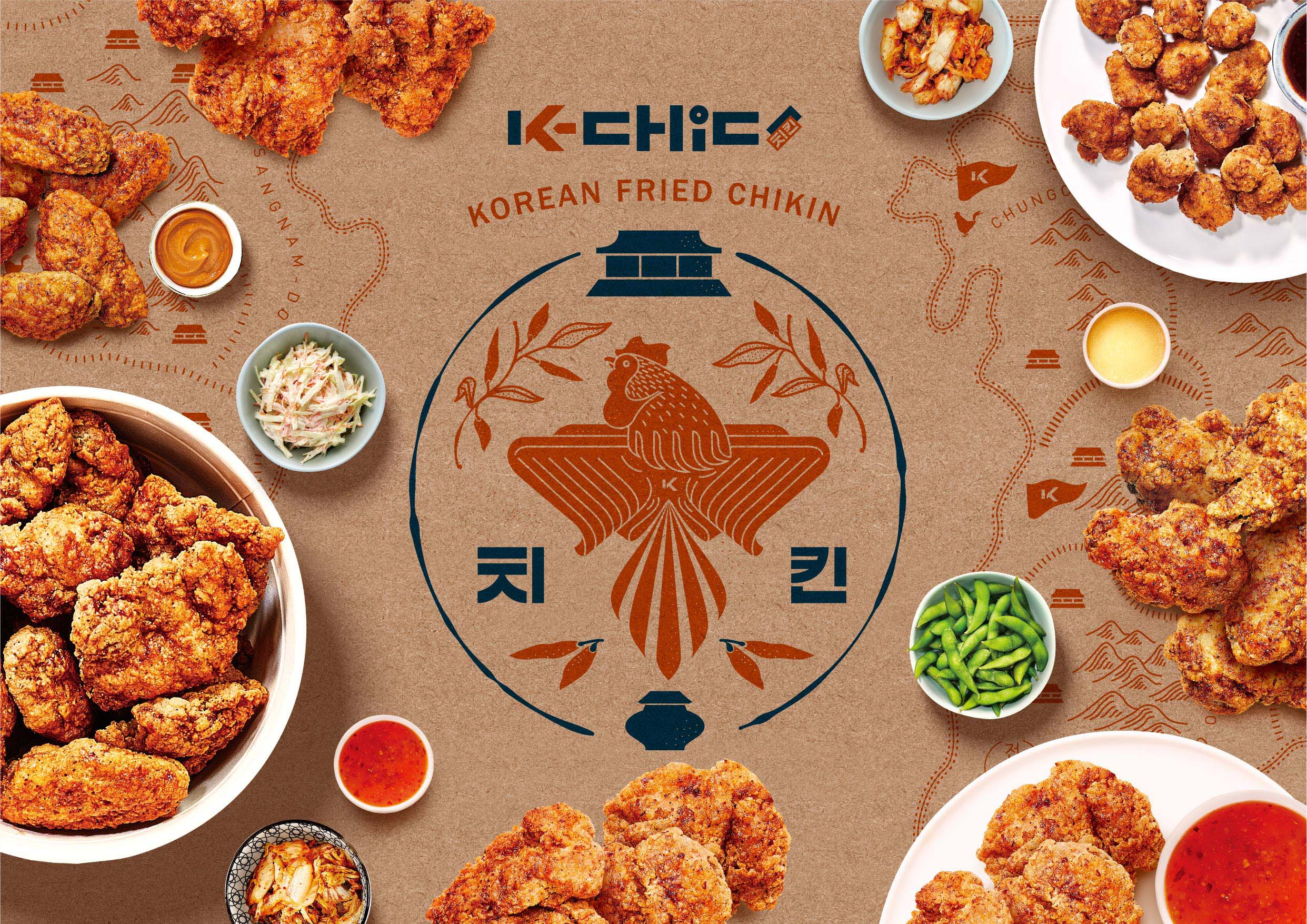 Sump Design Creates K-Chic Korean Fried Chicken Brand and Packaging Design
