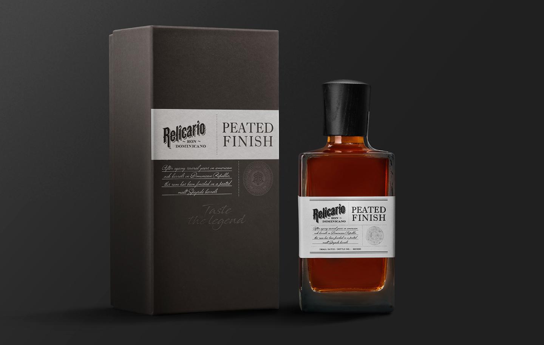 Packaging Design for Relicario Peated Finish a Superior Rum