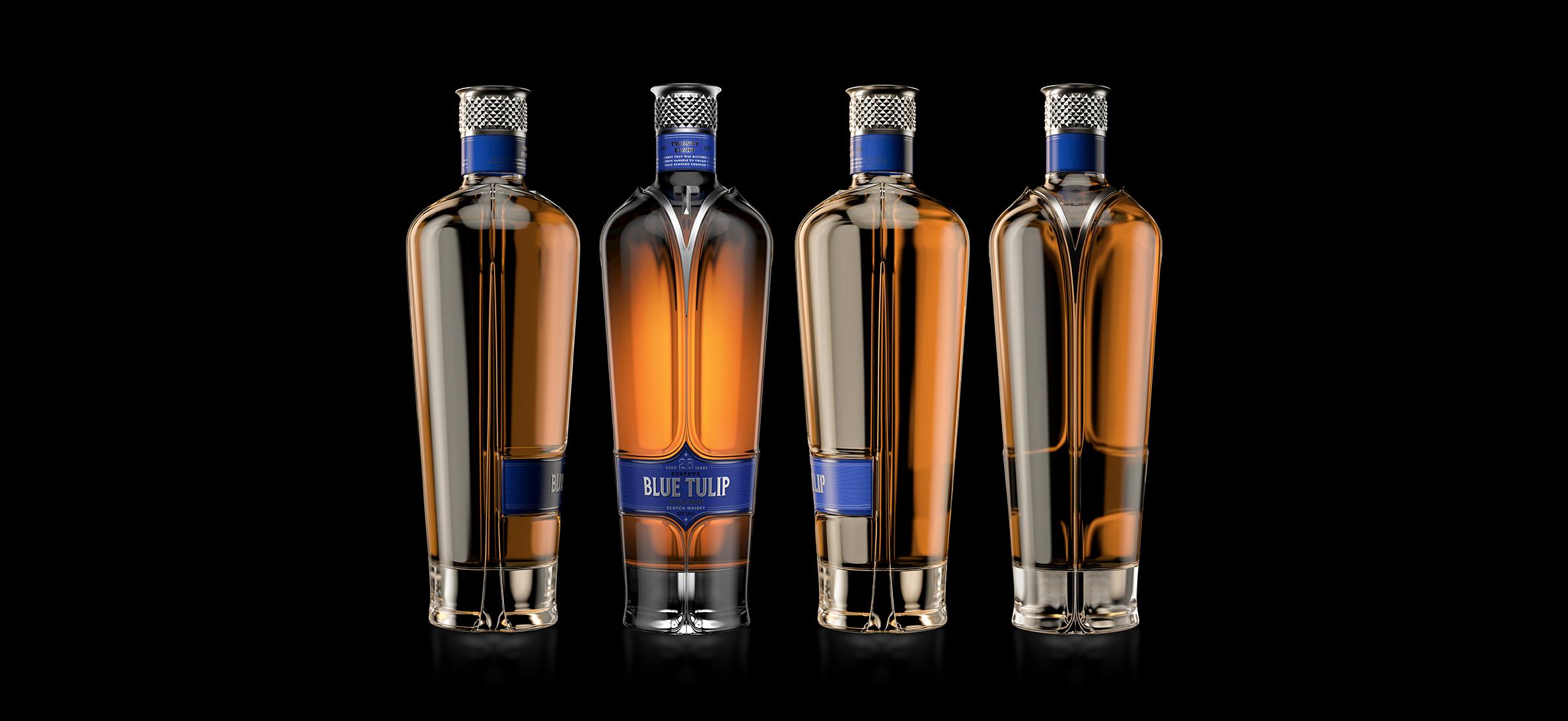 Puigdemont Roca Studio Creates Blue Tulip Scotch Whisky
