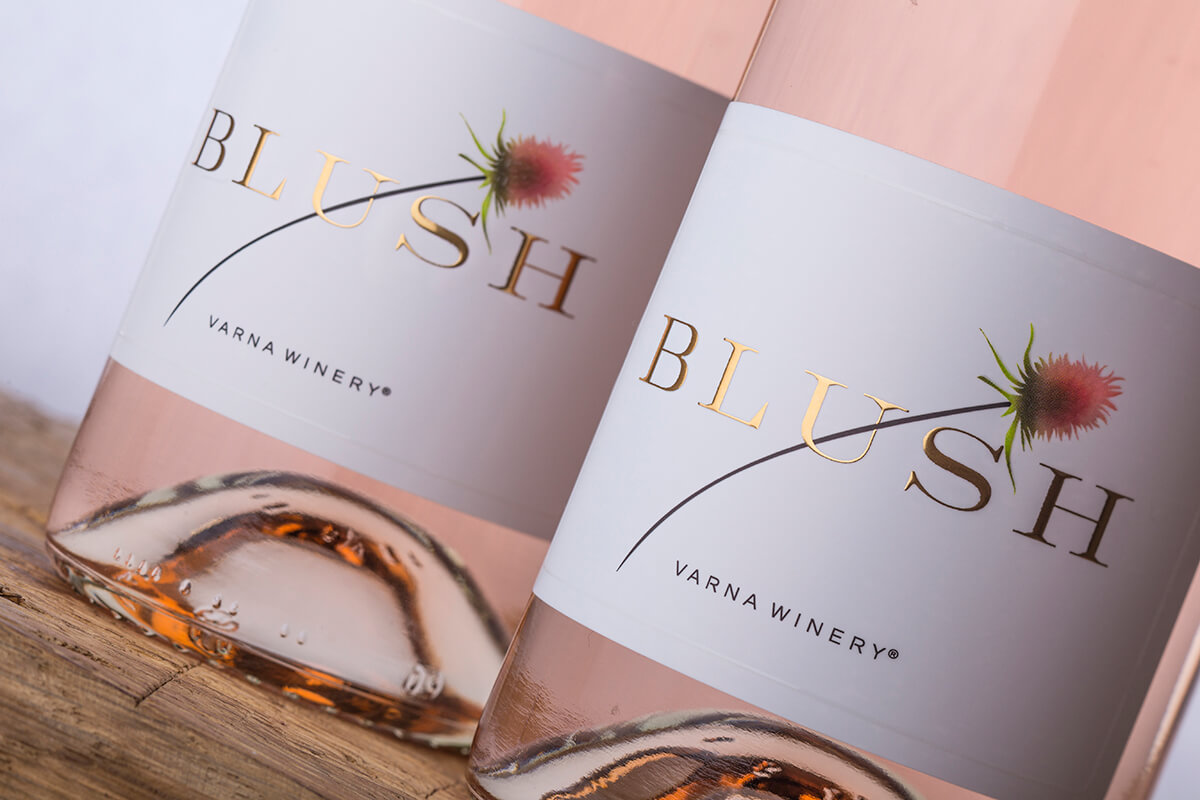 An Inspiring Thistle Blossom on Blush Wine by the Labelmaker
