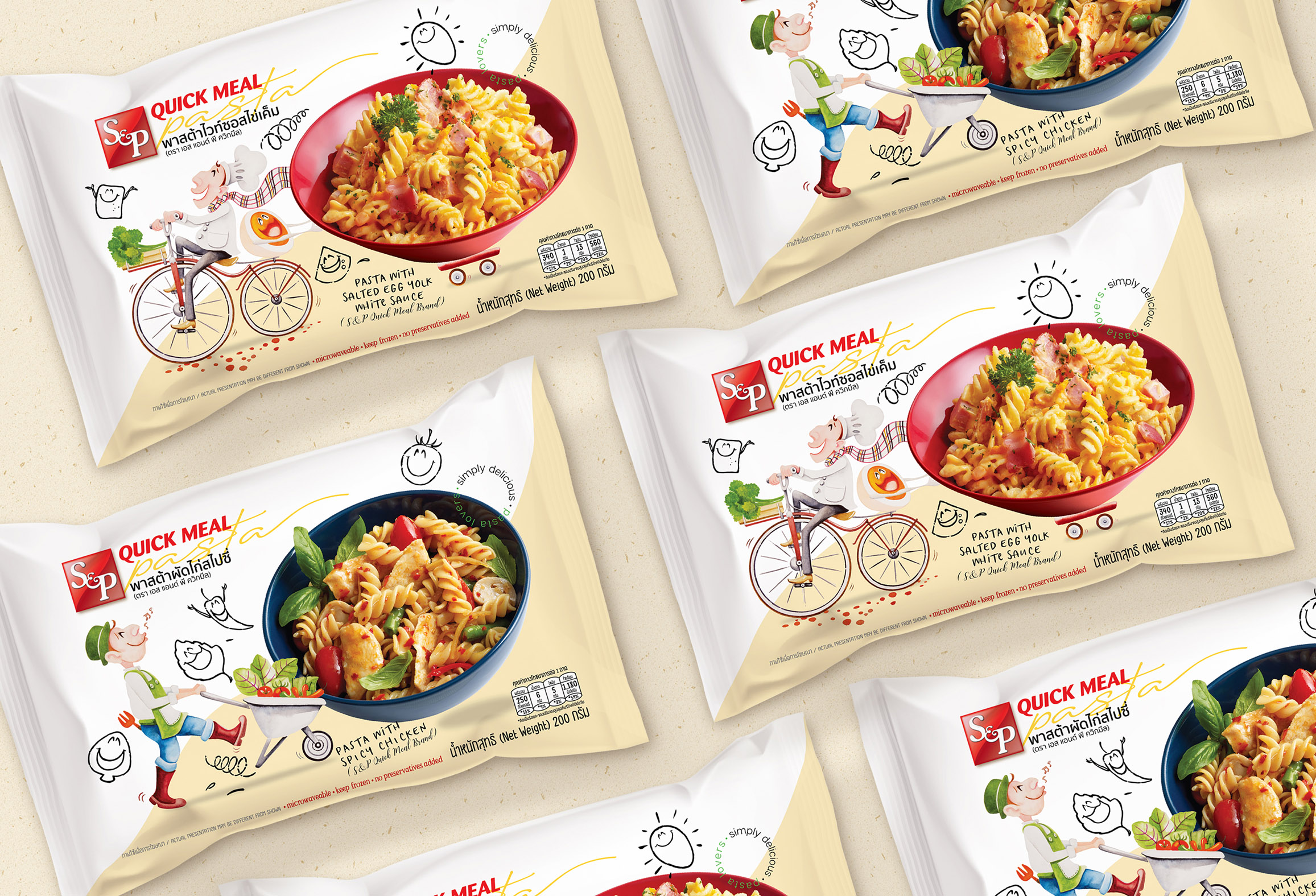 Quickmeal Pasta Packaging Design by Dusadee Lamkijja