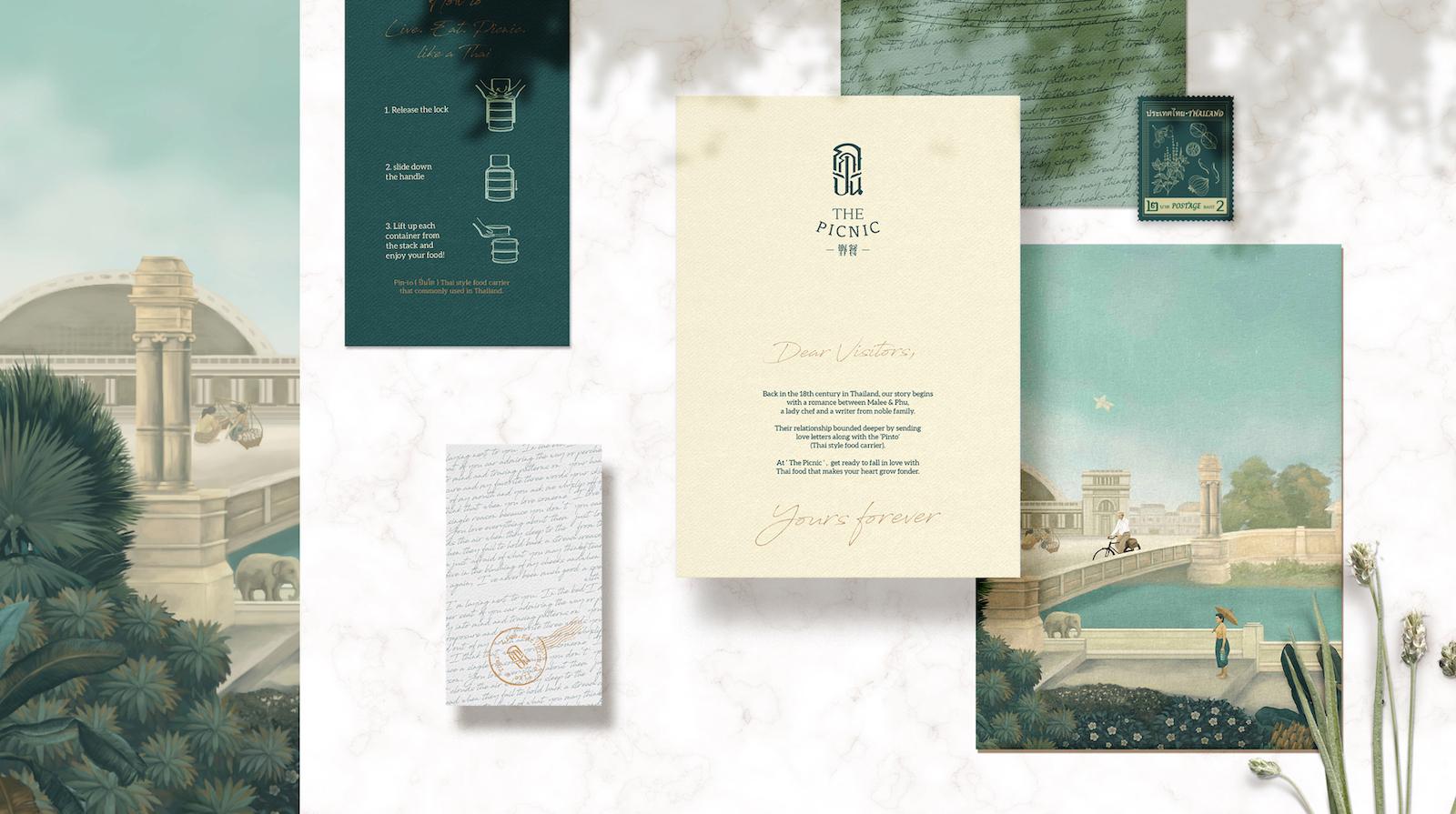 Picnic Thai Restaurant Brand Design by Whitespace