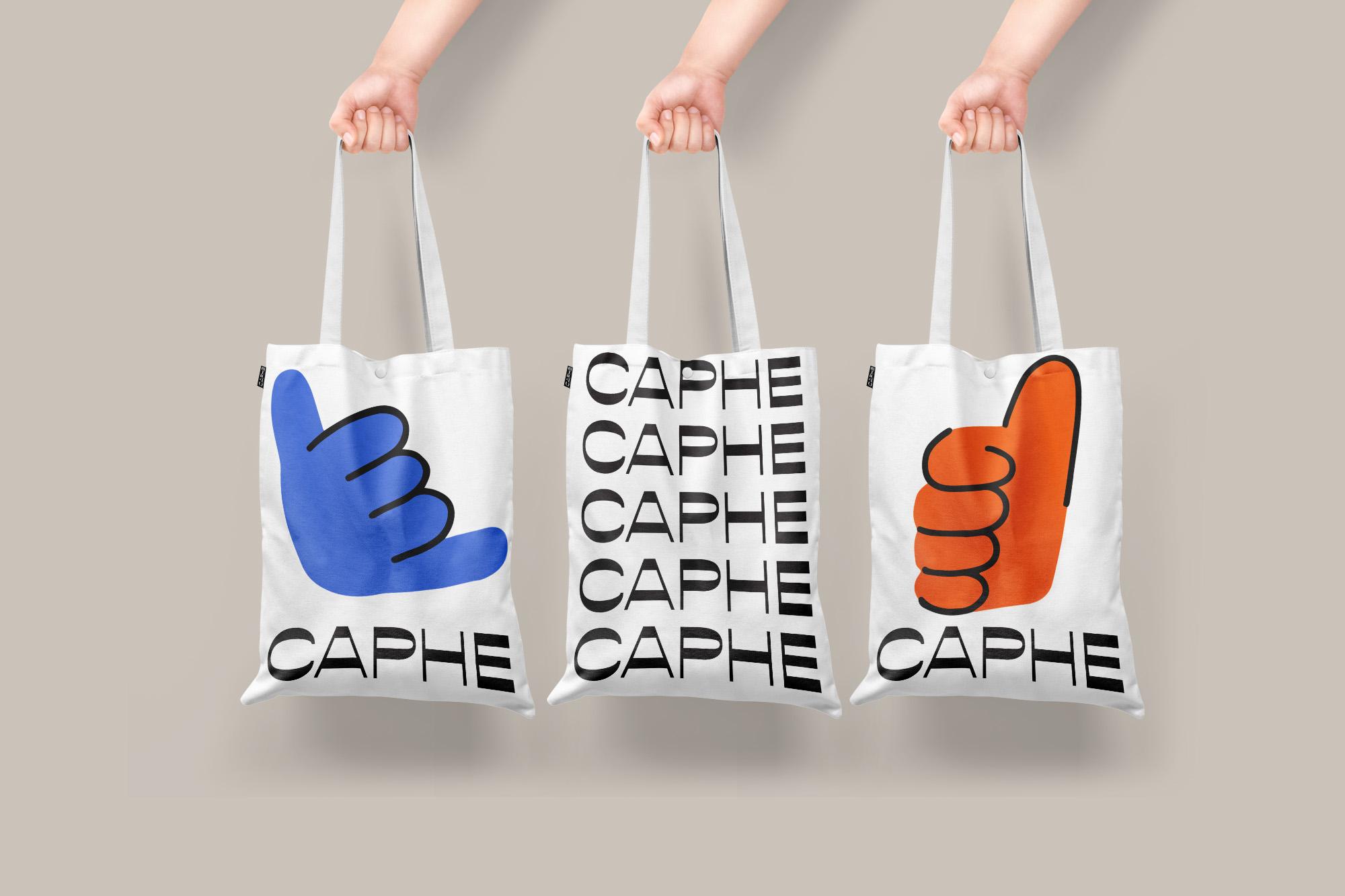 Enjoying Coffee Gestures Design for Caphe Coffee by Widarto Impact