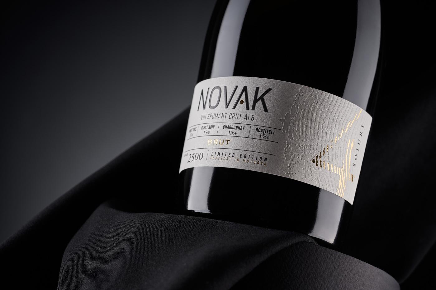 Sparkling Wine Label Design for Novak Spumant Created 43oz Design Studio