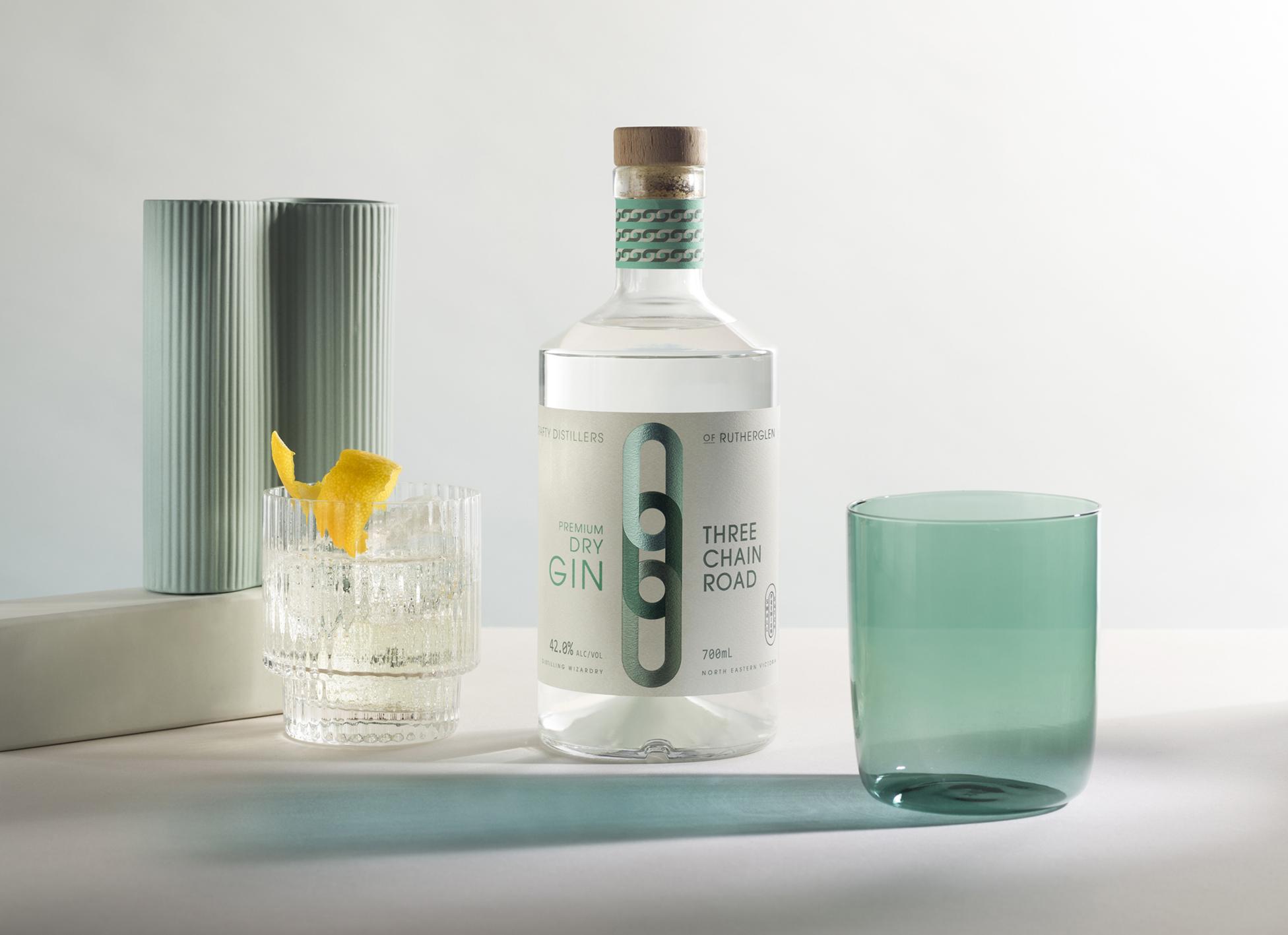 Design Energy's Label Design for Rutherglen Distillery Premium Gin Range