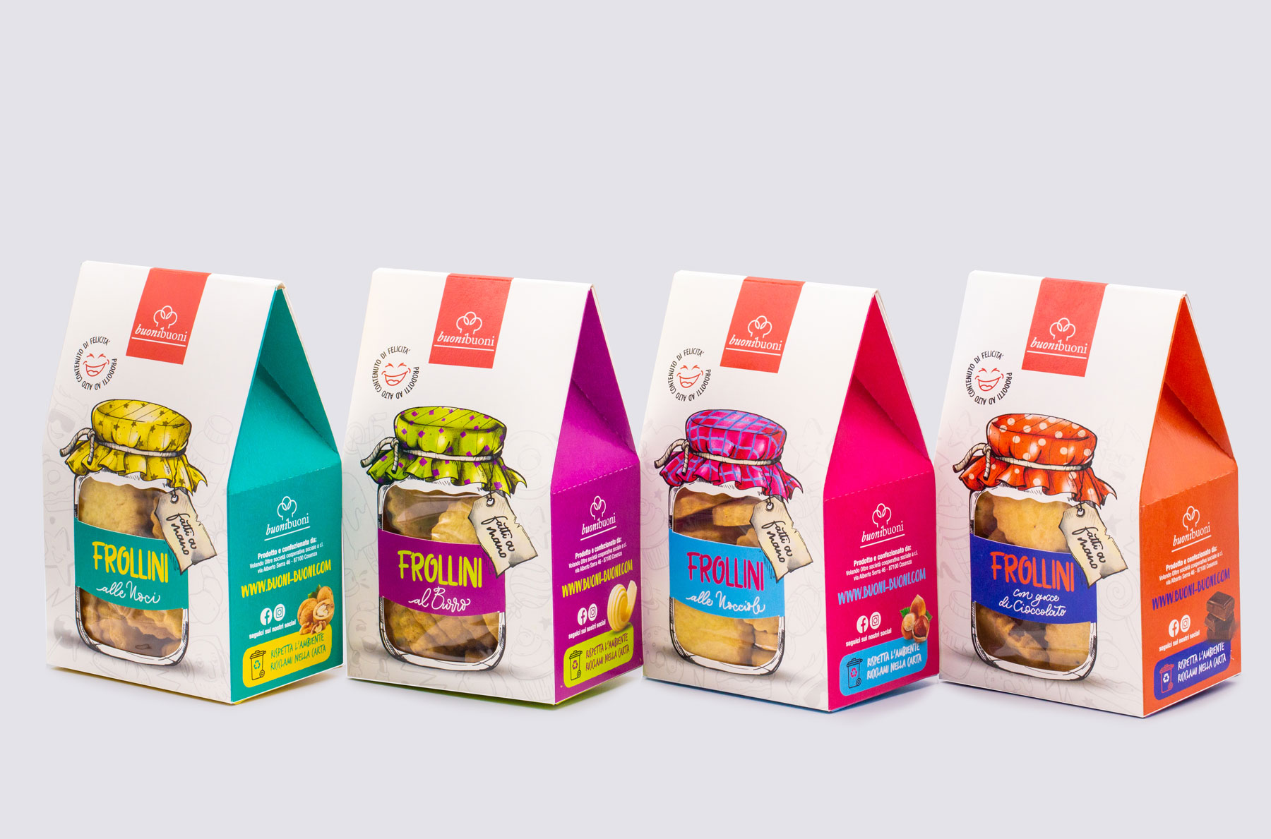 Studio La Regina Created Packaging Design for BuoniBuoni Shortbread Range