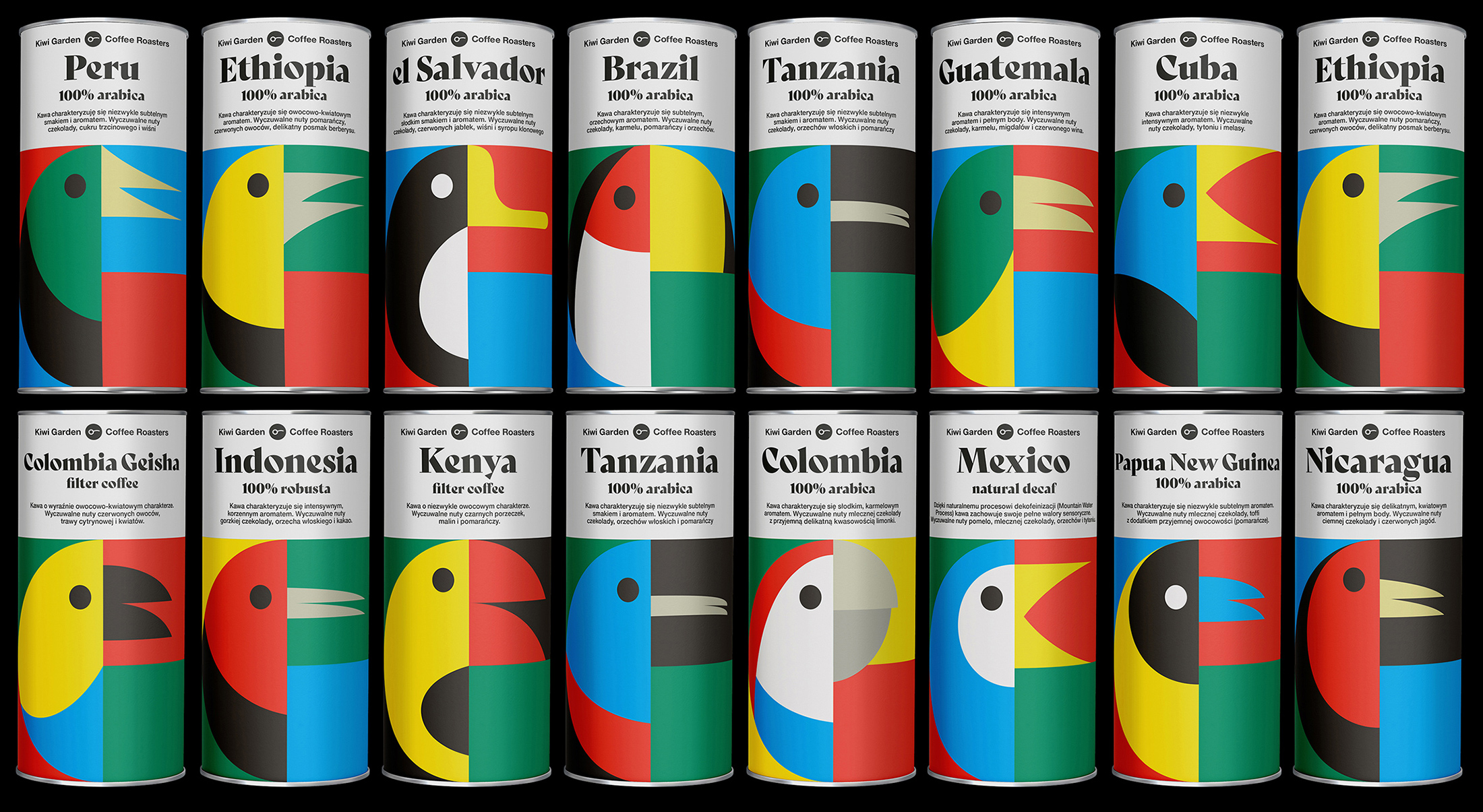 Brand and Packaging Design for Coffee Roaster and Tea Selection Product Range