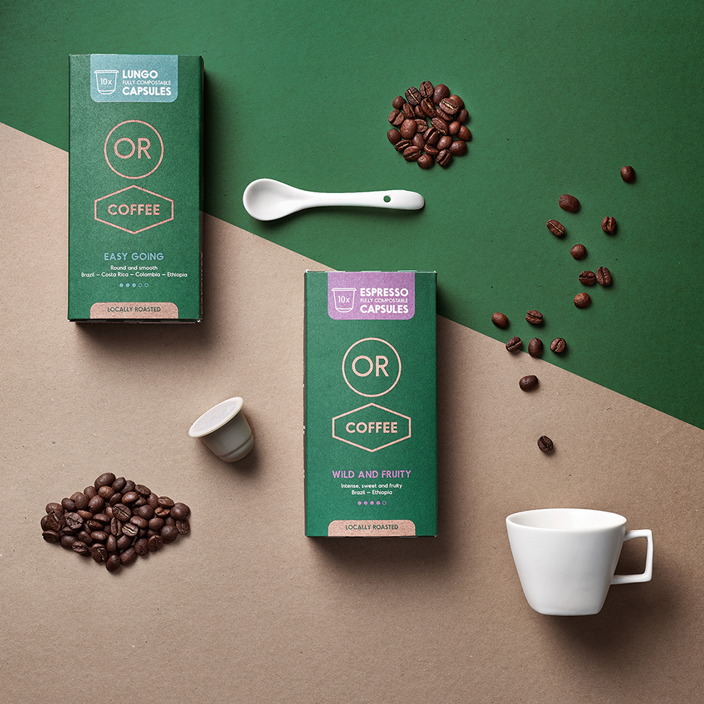 Quatre Mains Takes Time to Roast OR Coffee Brand and Packaging Design