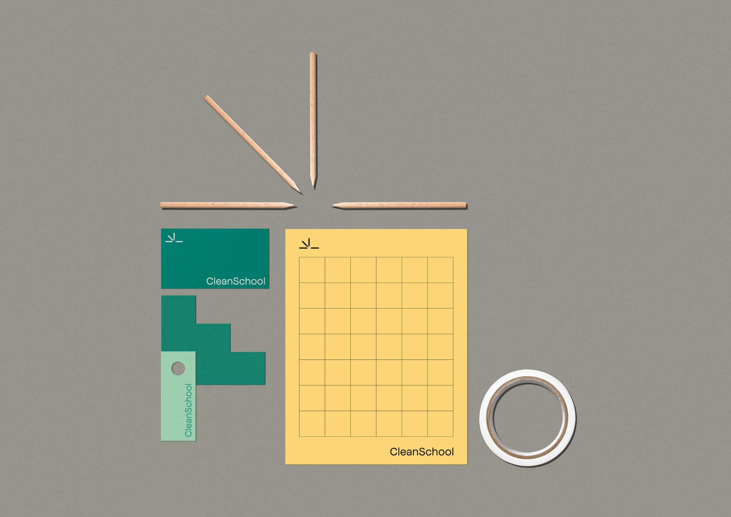 CleanSchool Teaching Platform Branding by Rafael Cardoso Design