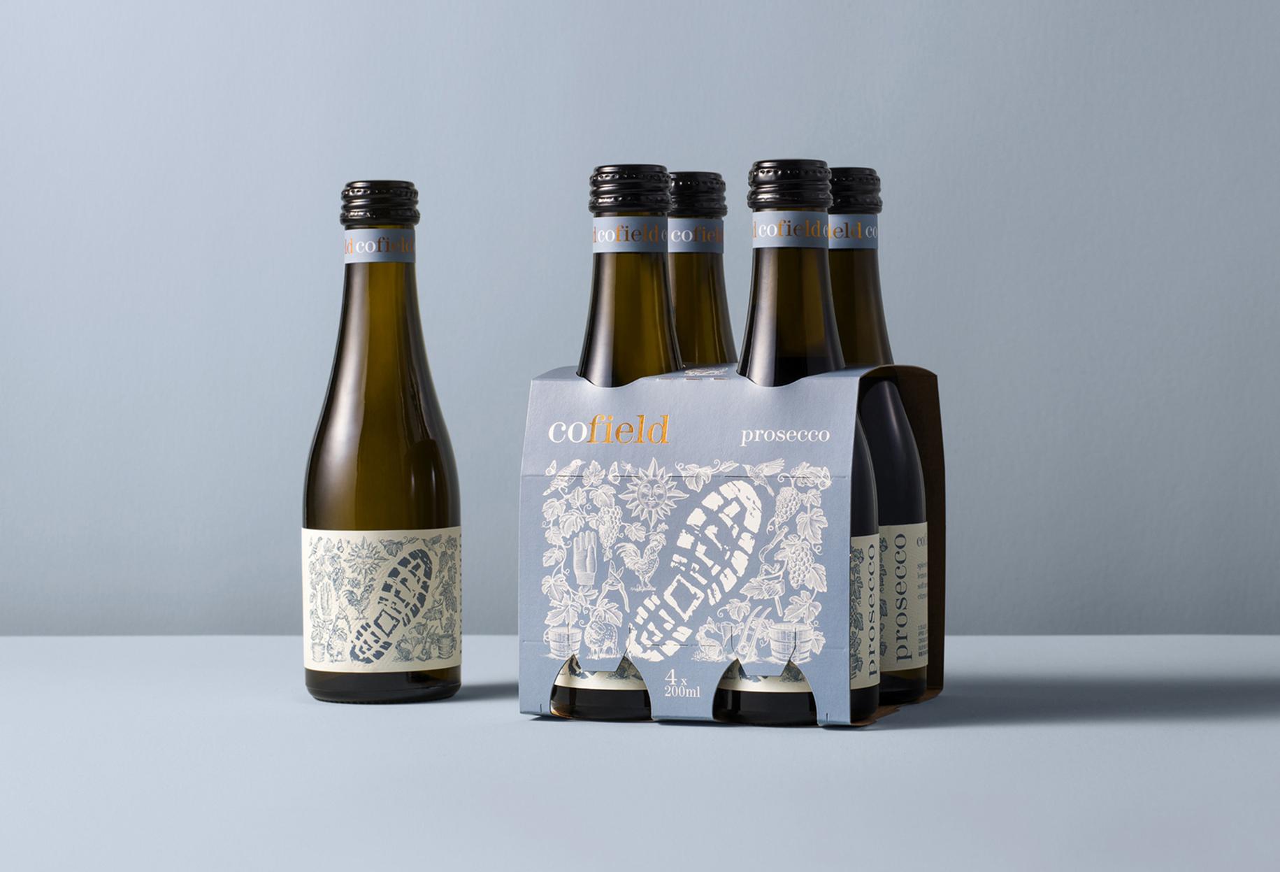 Footsteps Range Packaging Label Design for Cofield Wines