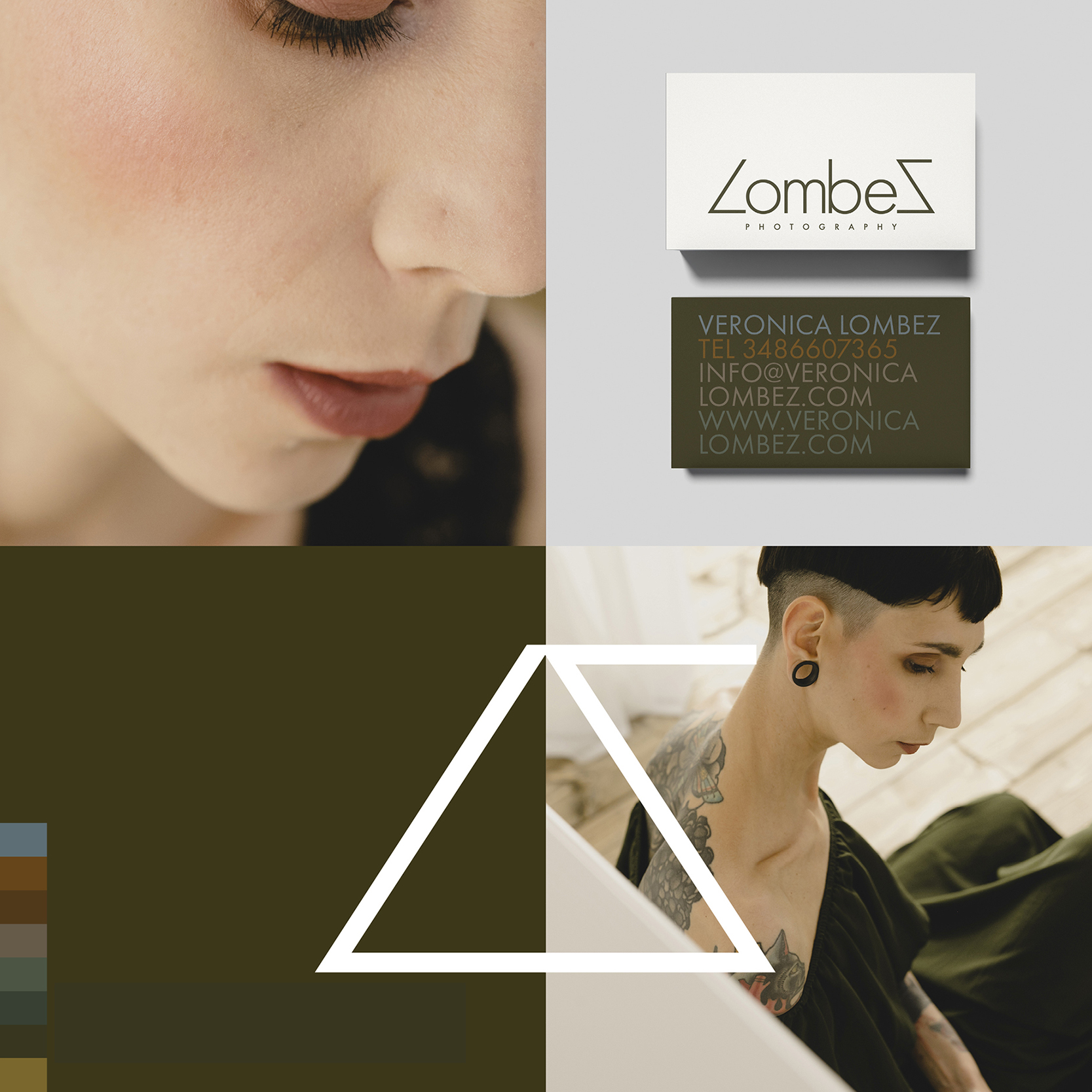 Rebranding for Italian photographer Veronica Lombez by Your Playbook