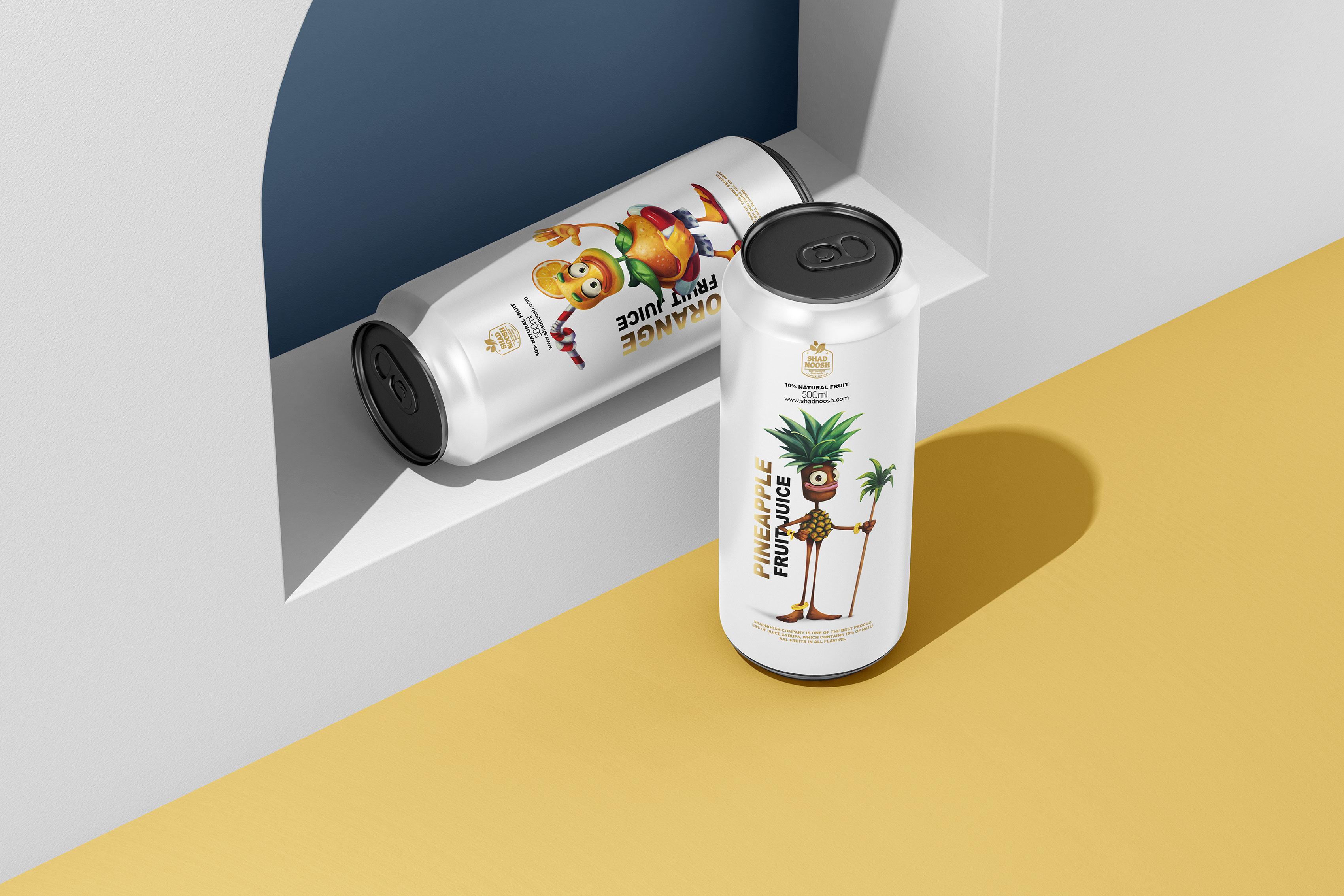 Taha Fakouri Creates Shadnoosh Fruit Juice Packaging Design