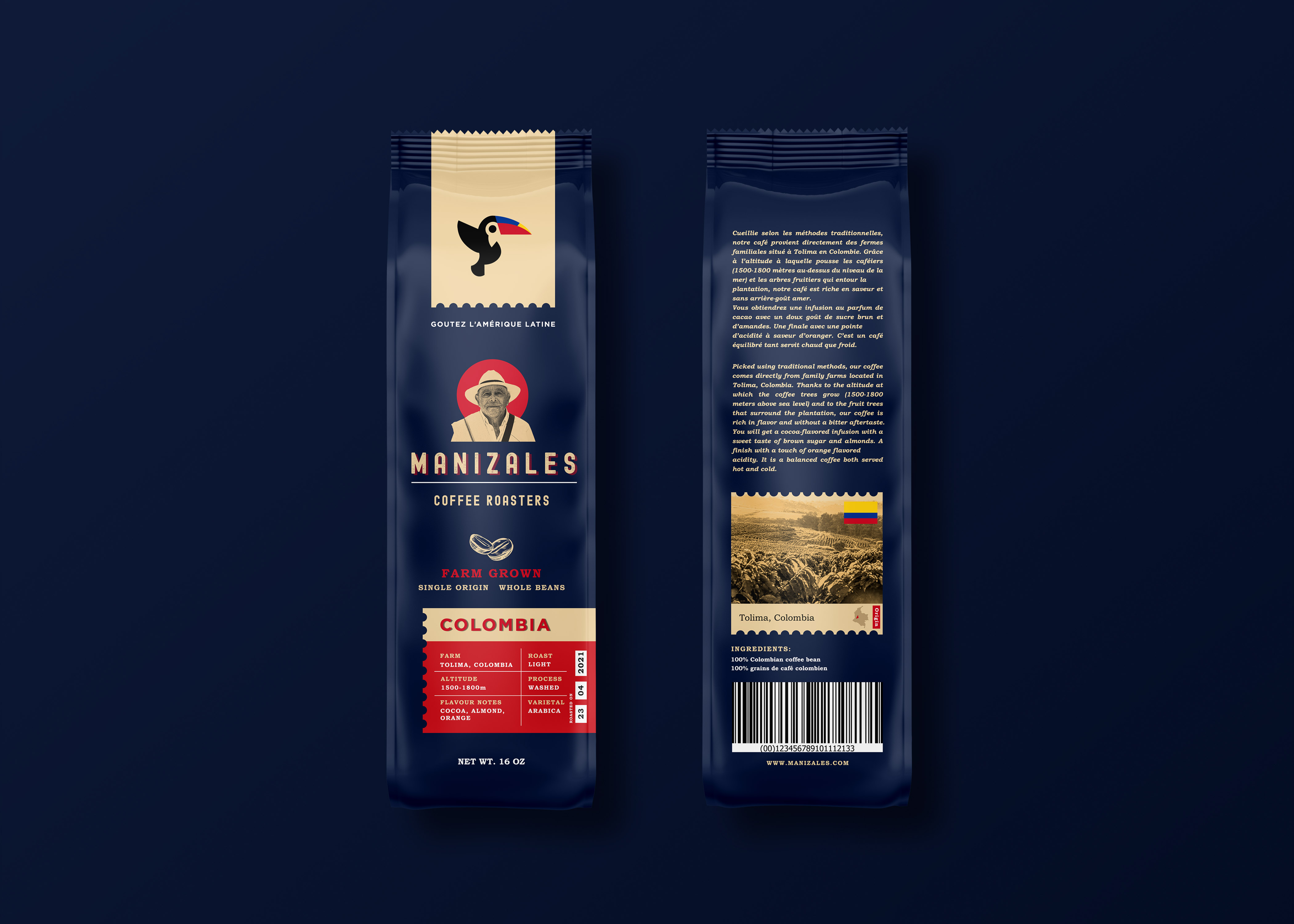 Manizales Coffee Roasters Colombia Packaging Design