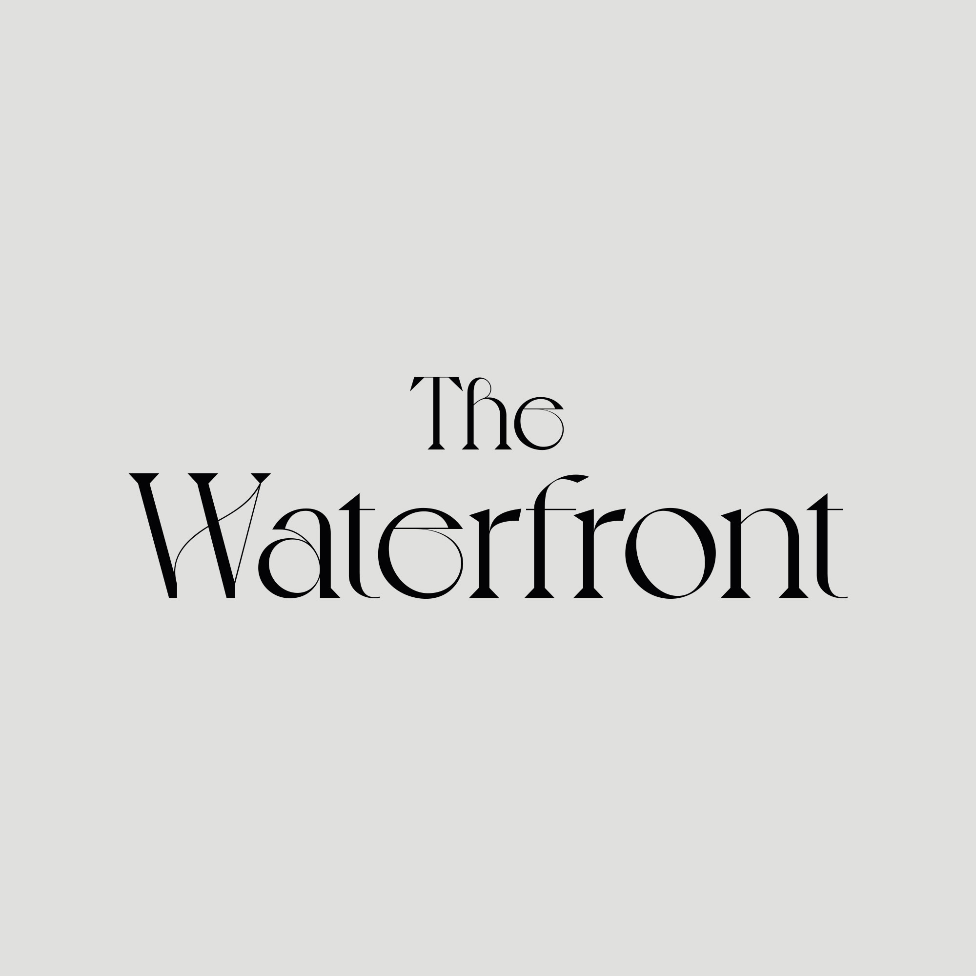 Brand Identity for The Waterfront, a High-End Champagne Bar Based in North Wales