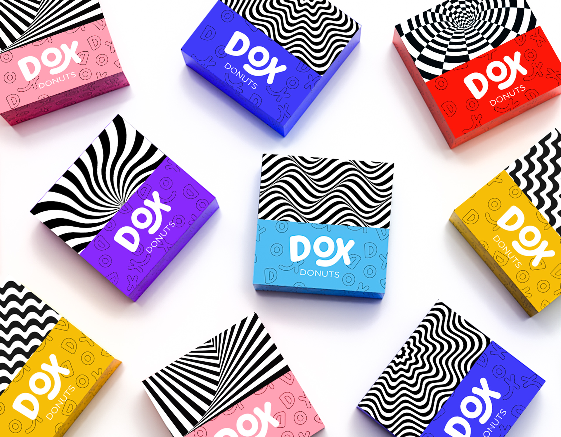 Unique Packaging Design for Dox Donuts