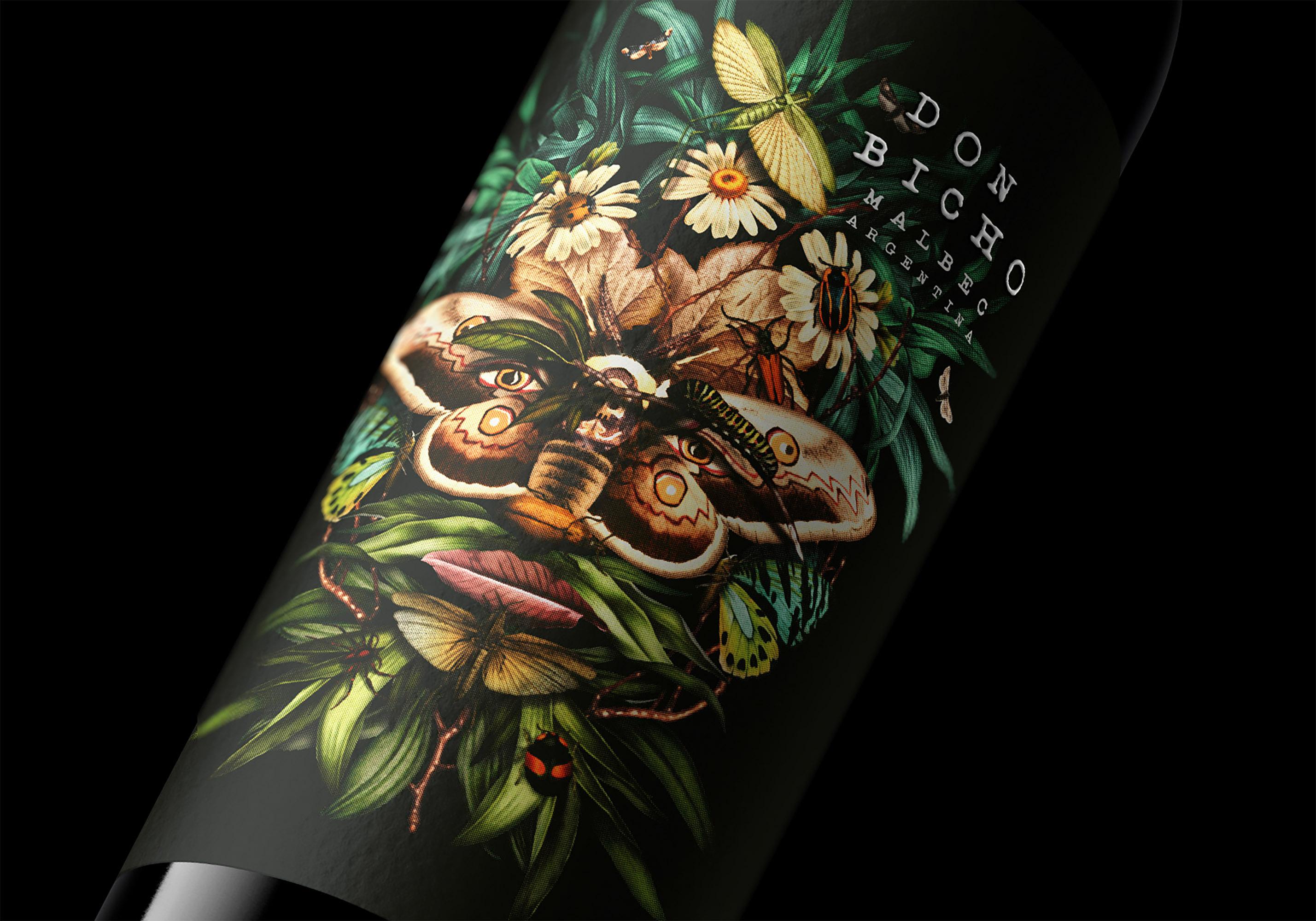 Don Bicho Organic Wine Label Design by Oveja & Remi