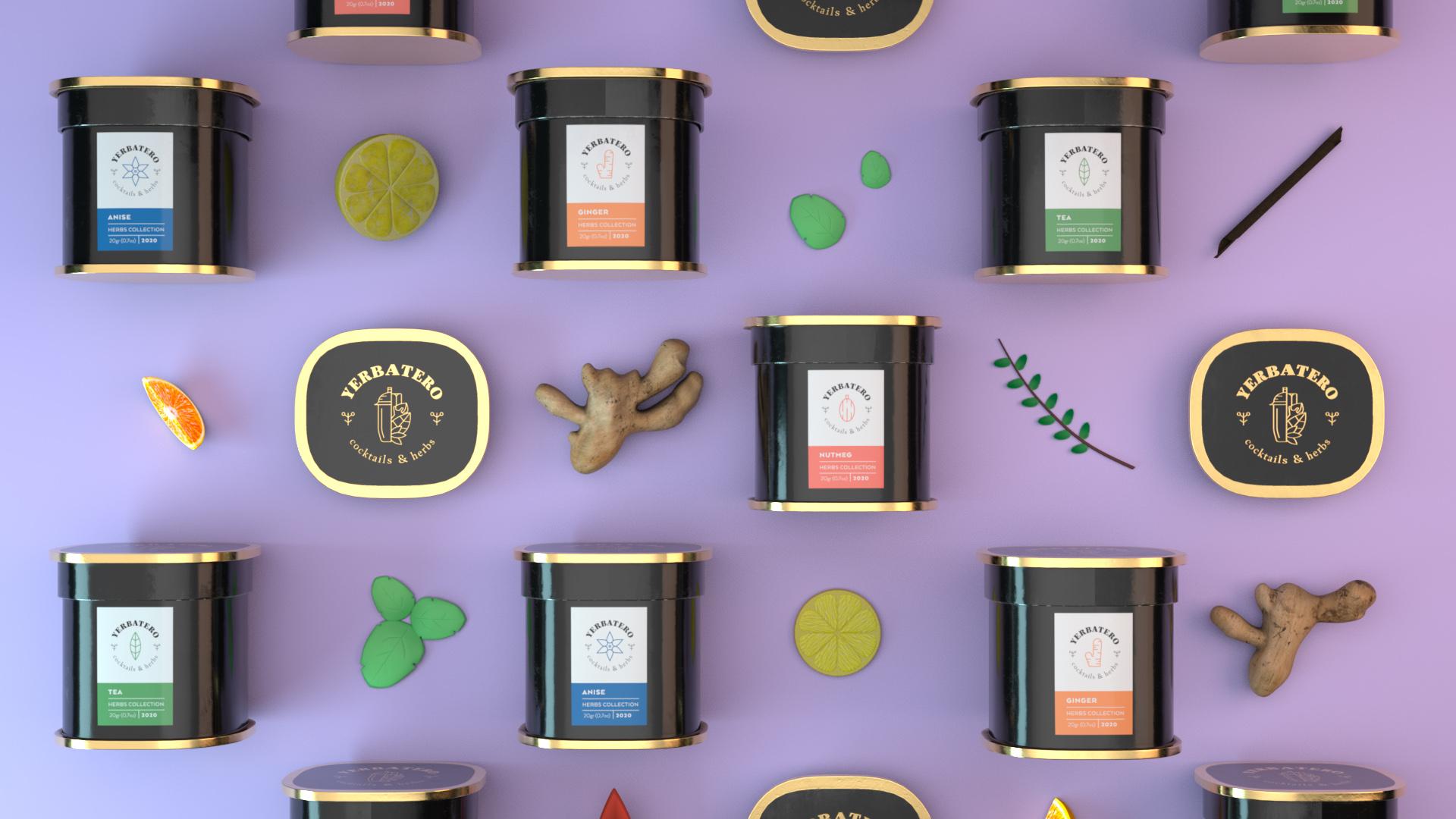 Alvarogdesign Creates Yerbatero Cocktails and Herbs Packaging Design
