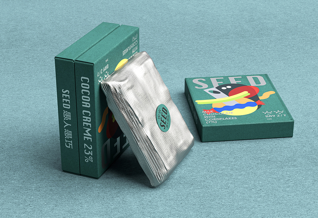 B&W Graphic Lab Create Seed Milk Chocolate Packaging Design