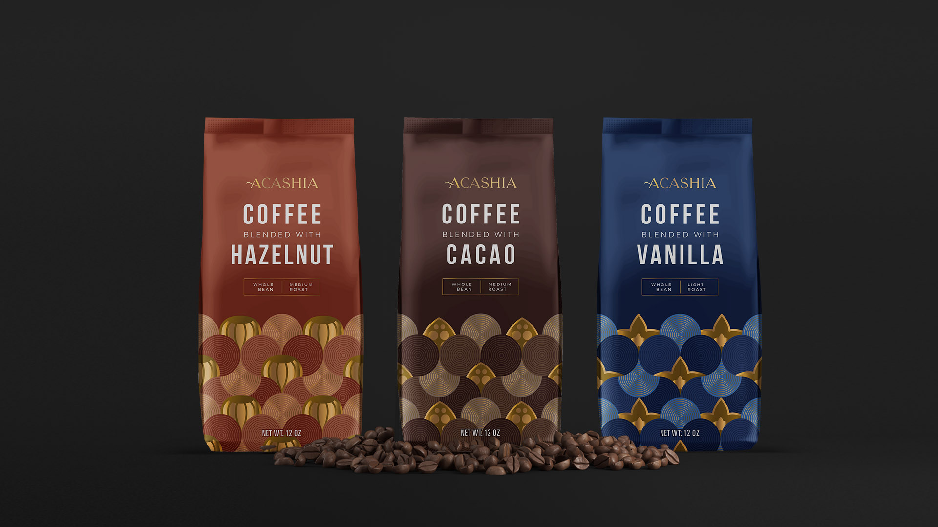 Nitid Studio Packaging Design for Acashia Coffee