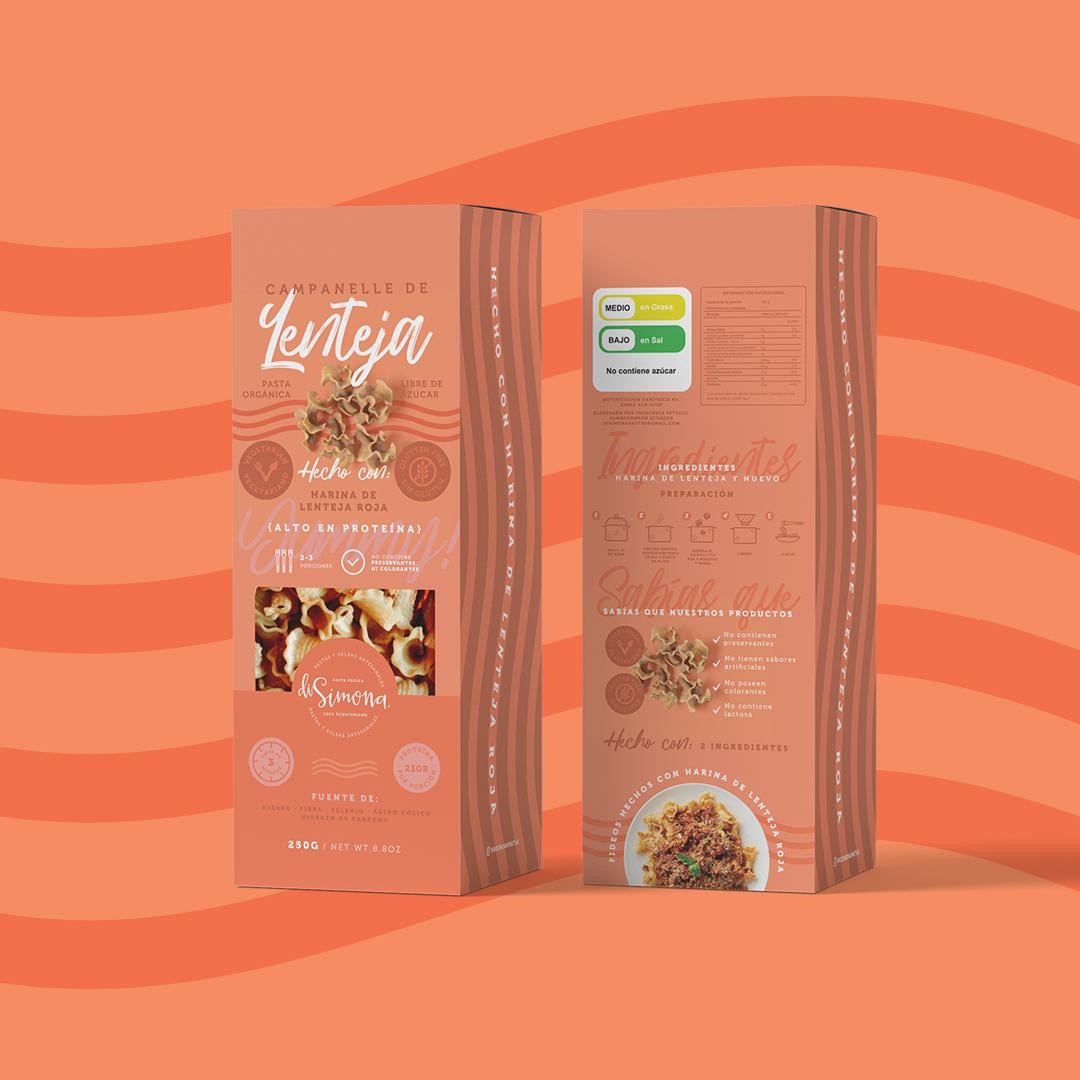 Packaging for DiSimona Artisan Pasta Family of Products Designed Uva Studio