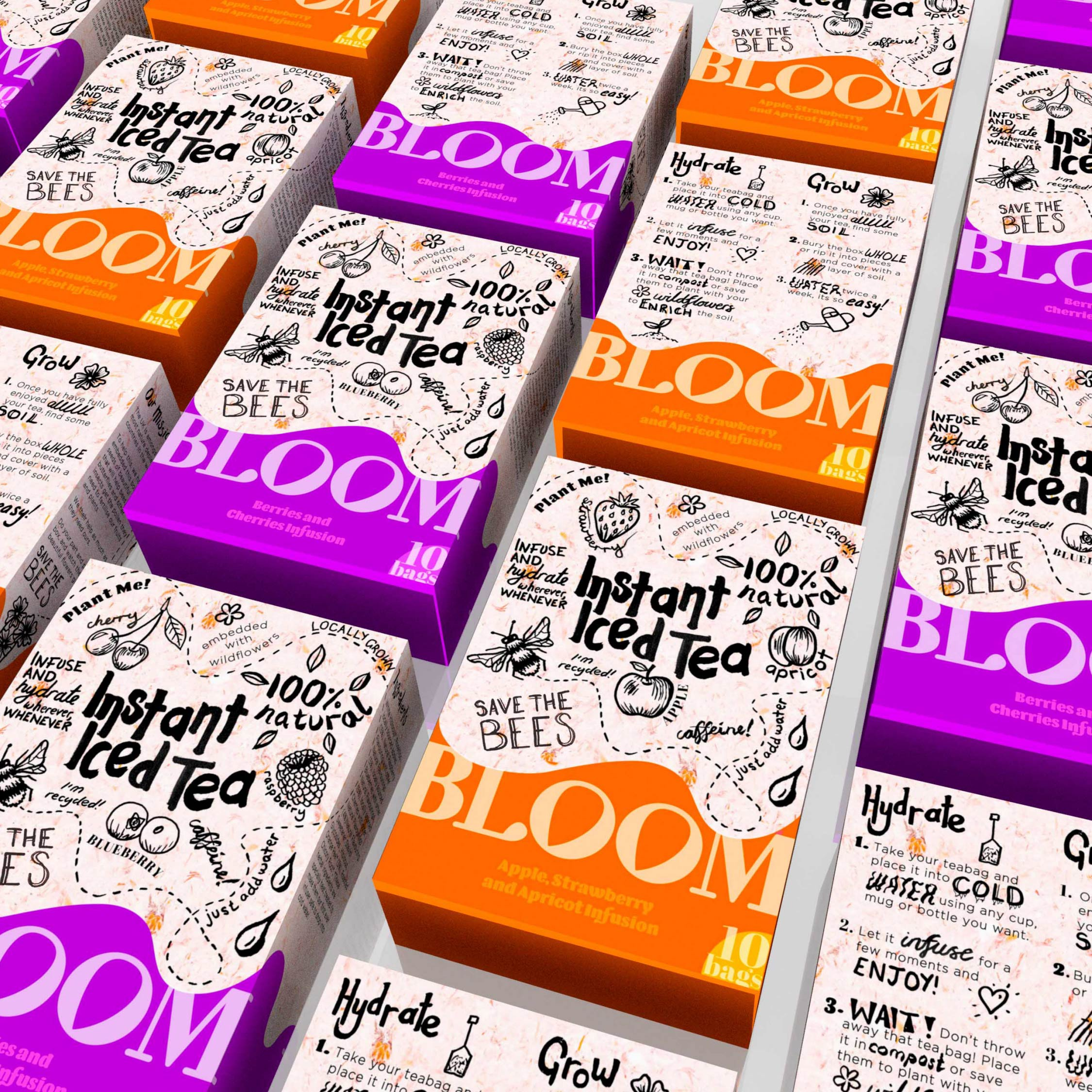 Emma Cook Concept for Bloom Instant Iced Tea