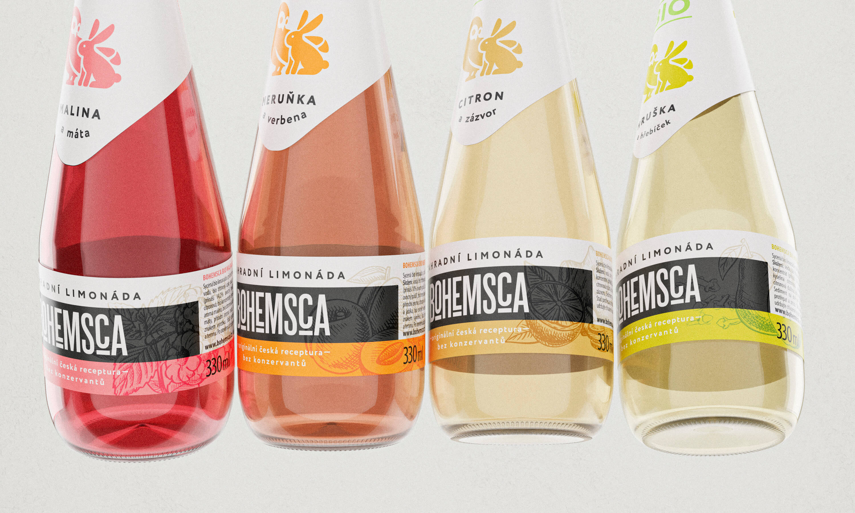 Marlon Studio Create Packaging for Natural Soft Drink Brand Bohemsca