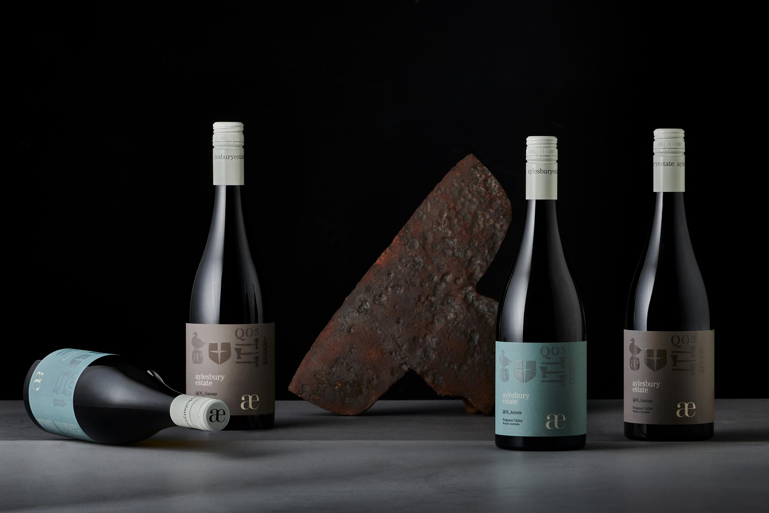 The Aylesbury Estate QO5 Wine Range Created by Harcus Design