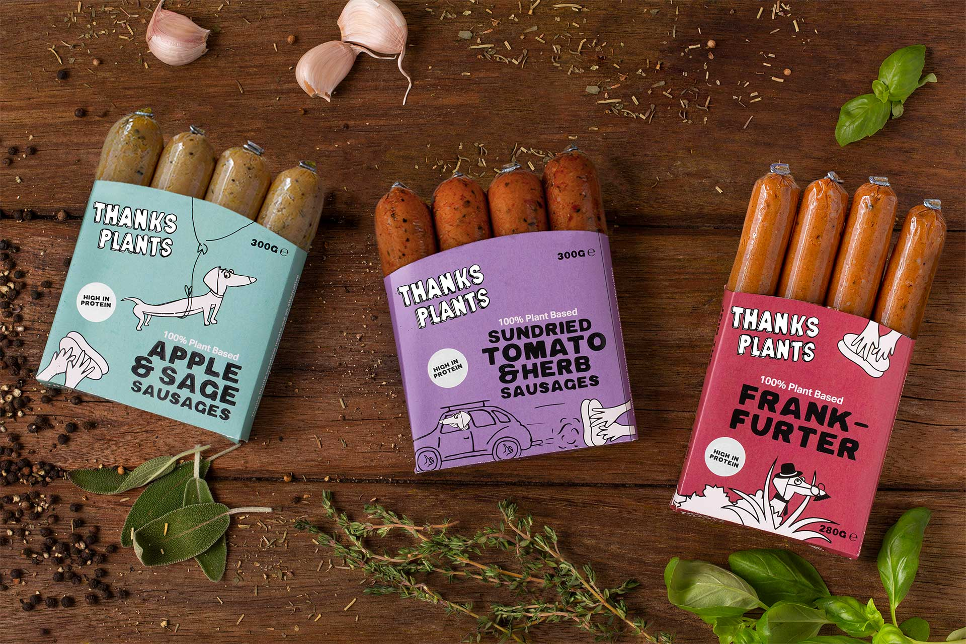 Playful Packaging Design for Plant Based Brand