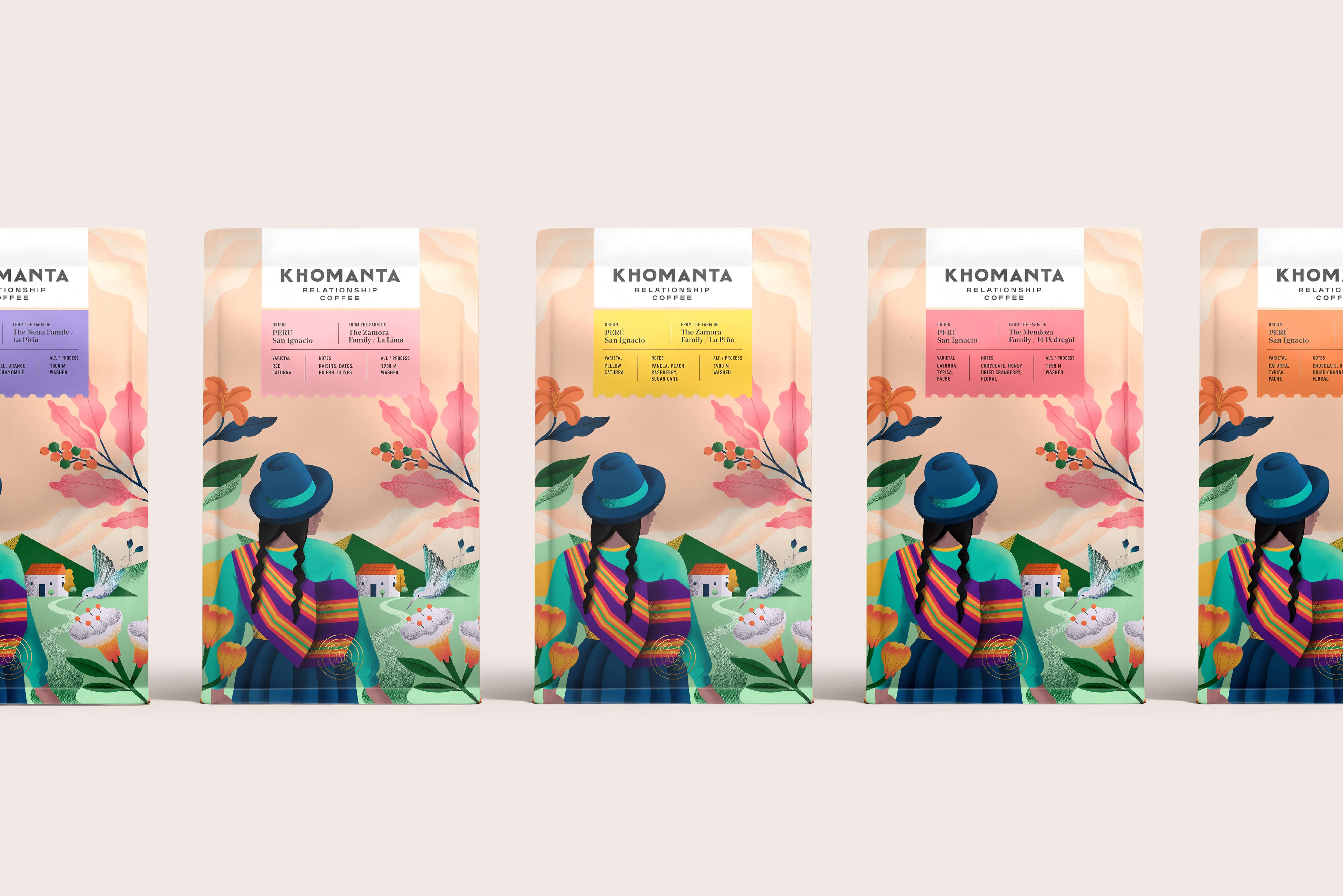 Southern Mountains of Peru Khomanta Coffee Packaging Design