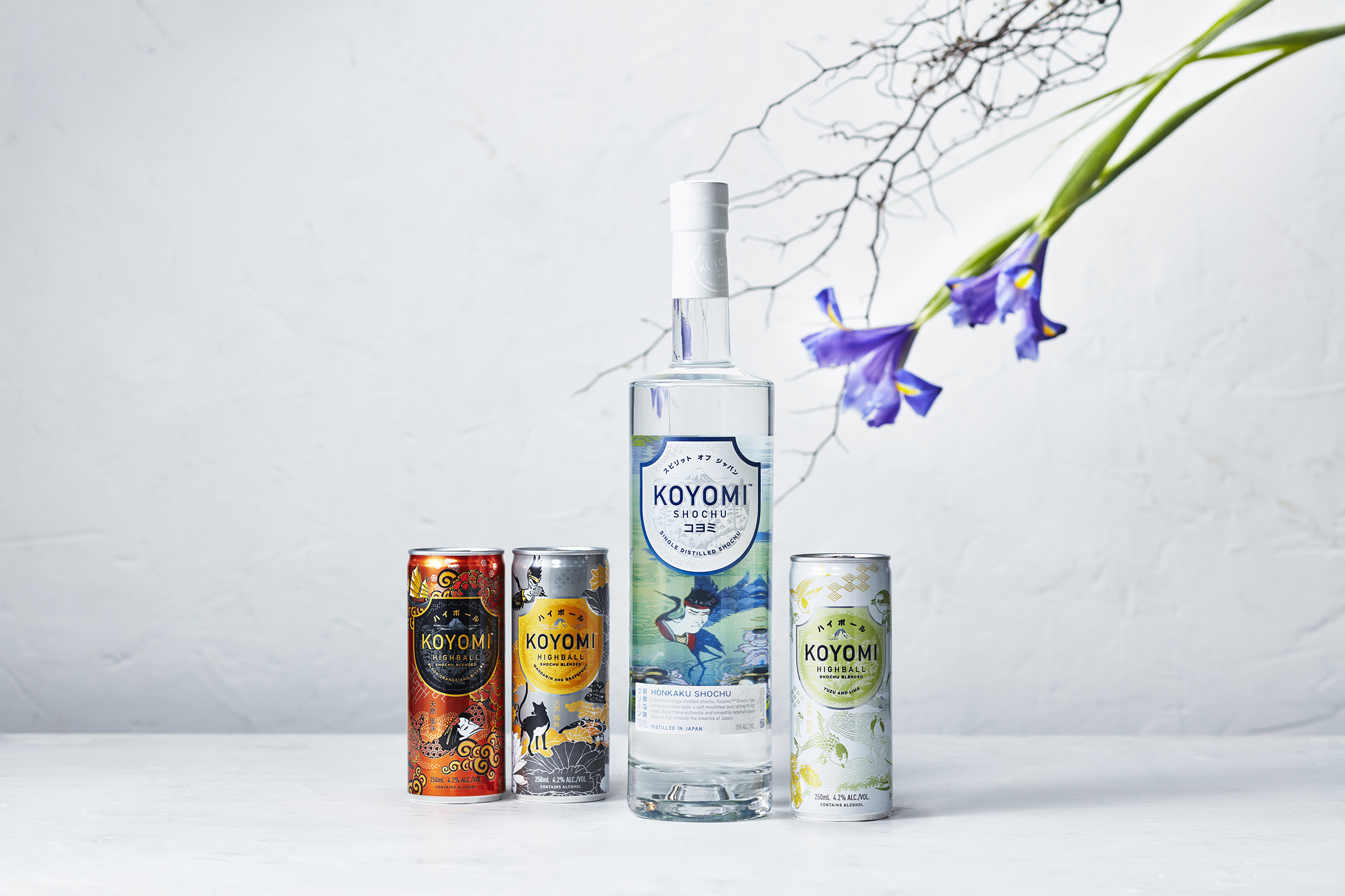 Koyomi Single Distilled Shochu Product Range Created by Boldinc Brand Innovation