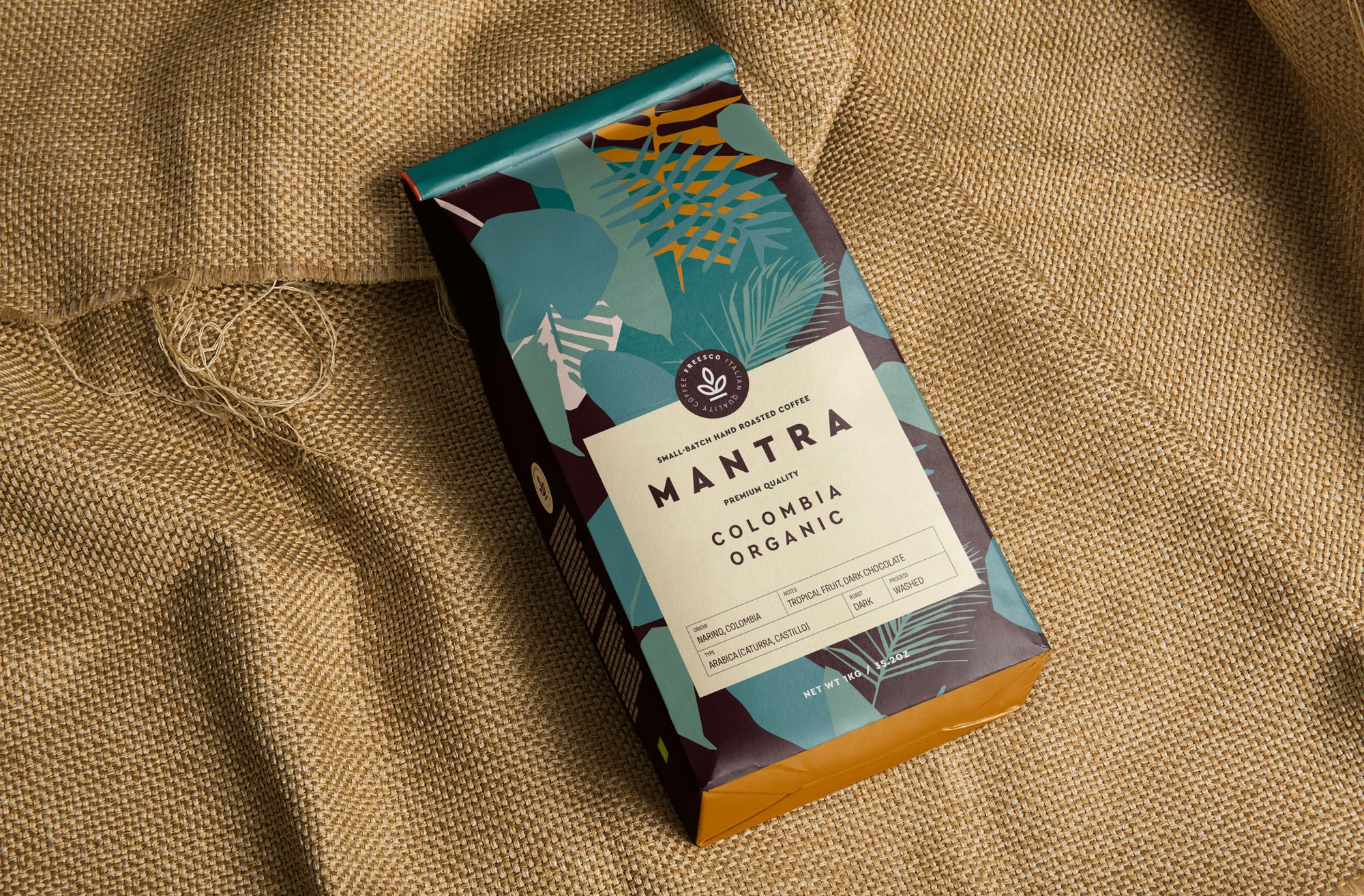 Ethical Mantra Coffee Brand and Packaging Design by Veesion