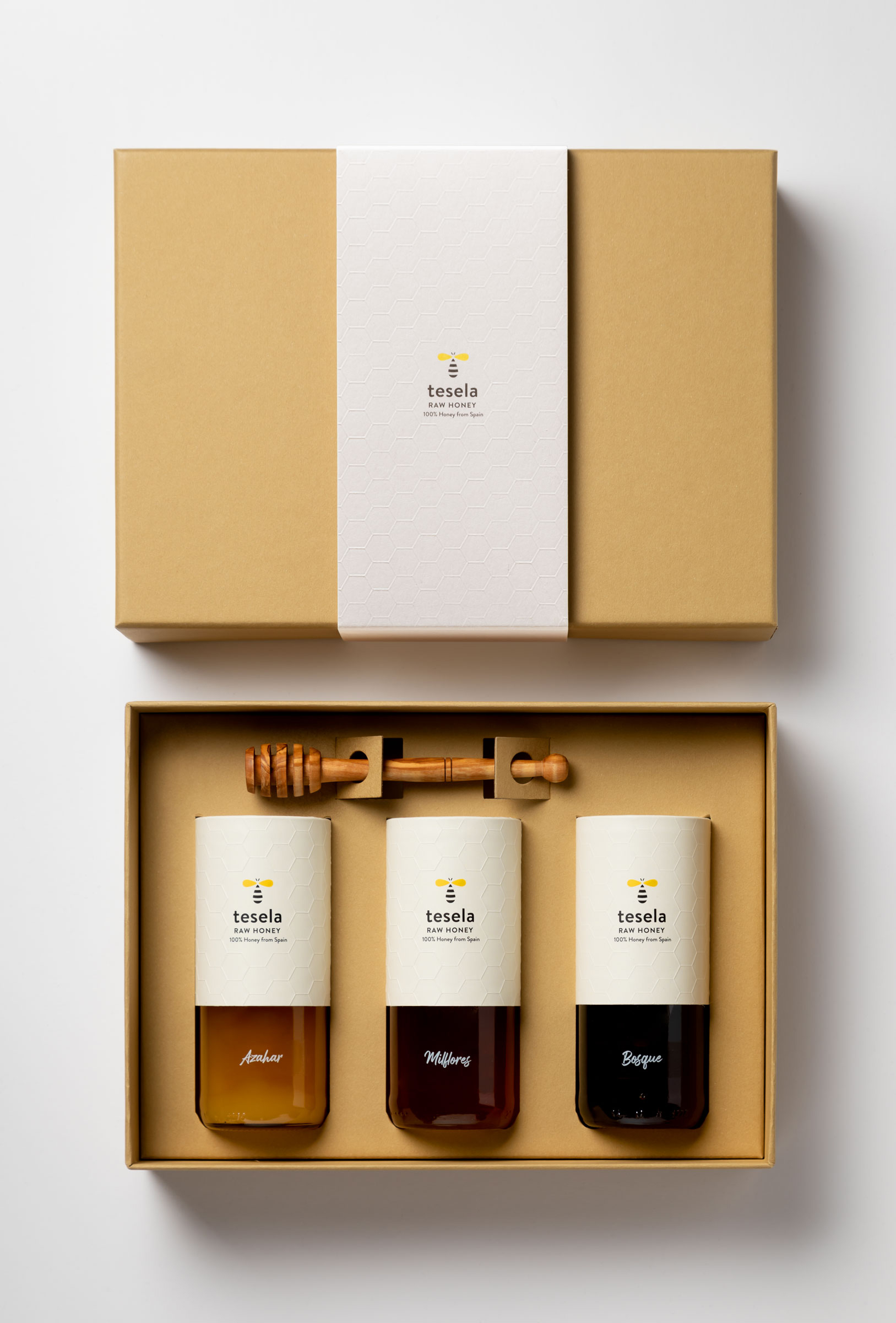 Tesela is a Premium-Quality, Natural Honey Branding and Packaging Design by Ideologo