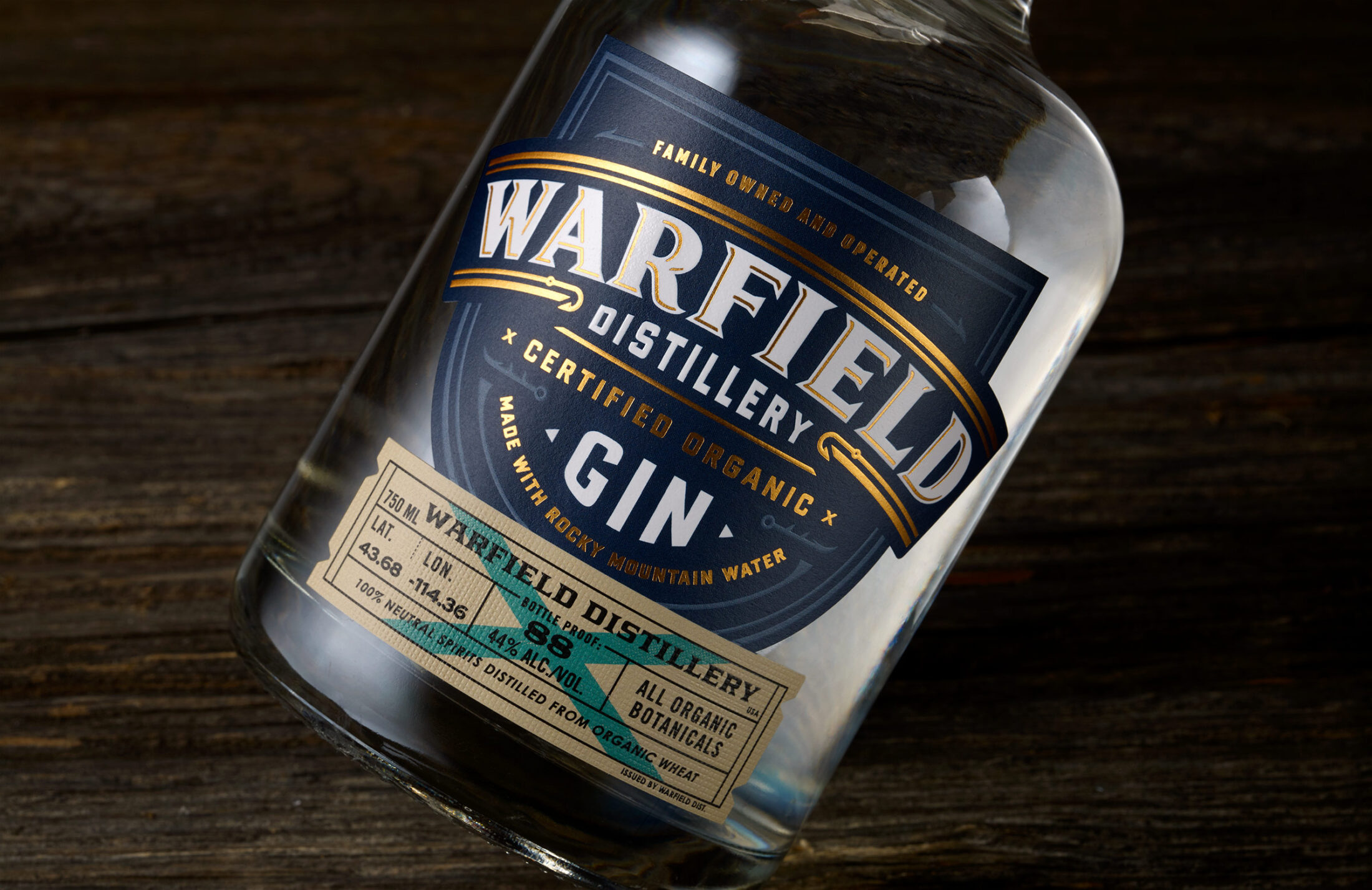 Warfield Distillery and Brewery Packaging Design Crafted by Chad Michael Studio