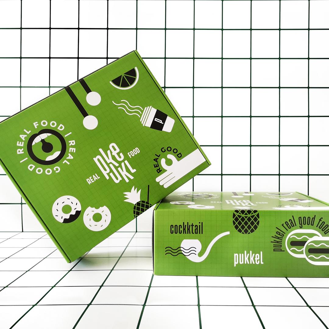 Pukkel Restaurant Take Away Packaging Designed by Igloo