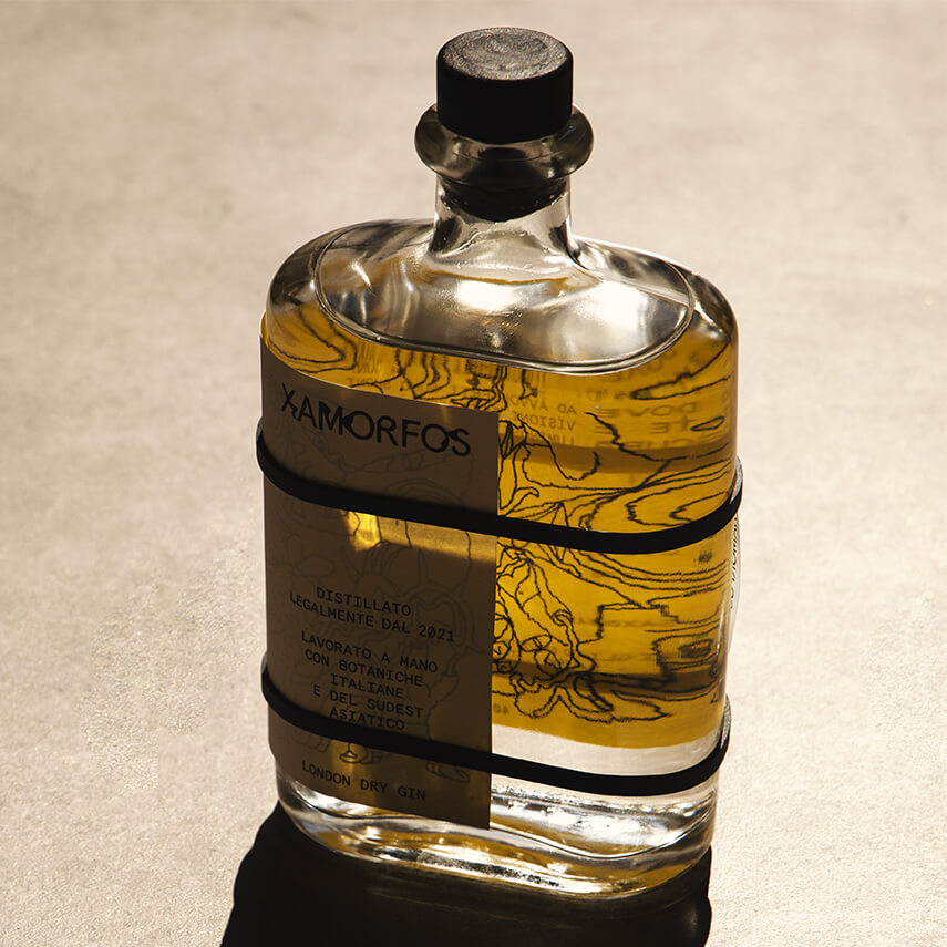 Lettera7 Create Labelling for Italian Gin Xamorfos