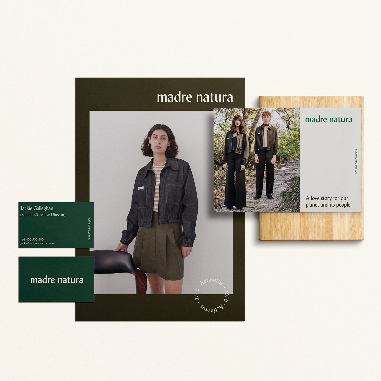 Branding for Contemporary Australian Slow-Fashion Design House Madre Natura