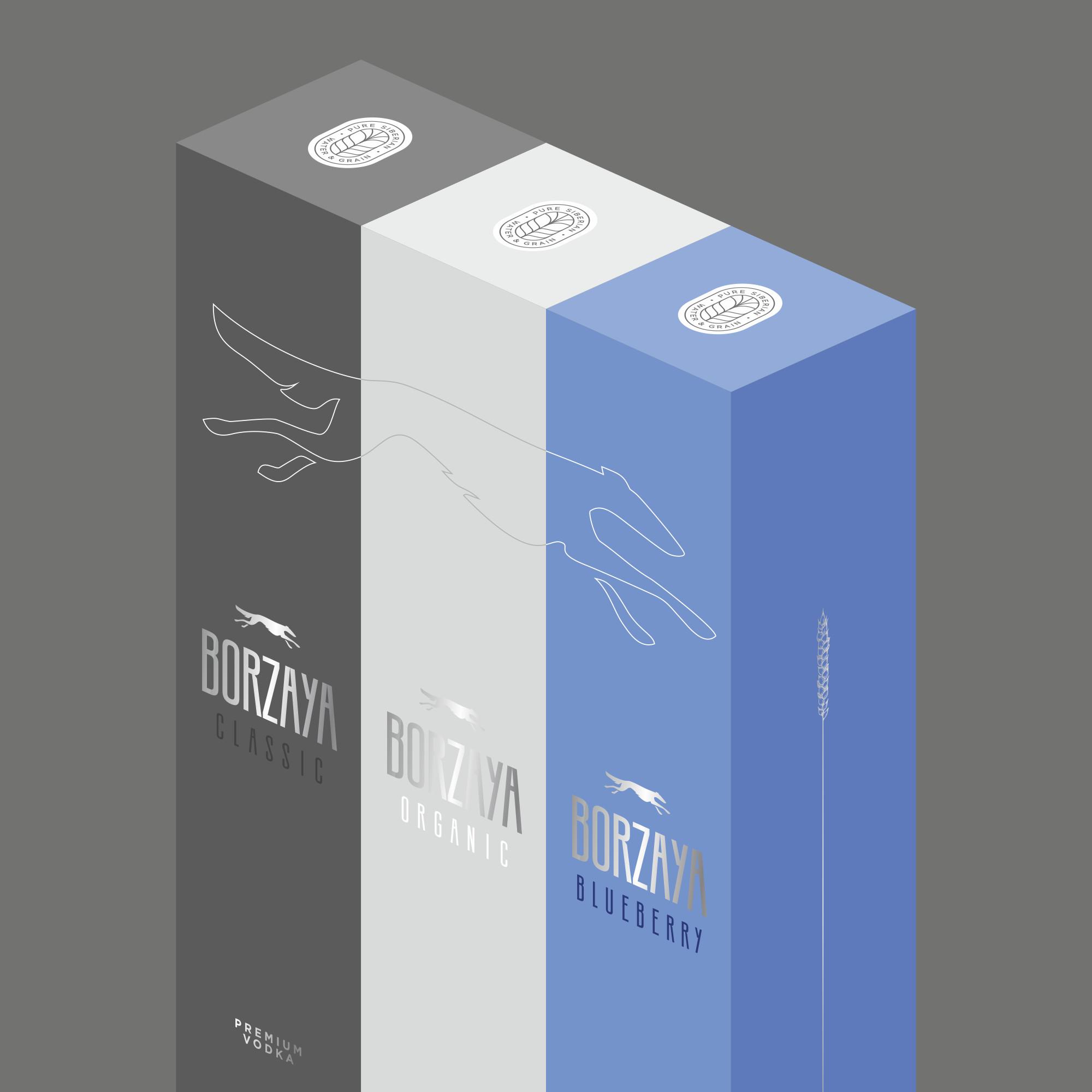 Premium Borzaya Vodka Packaging Design