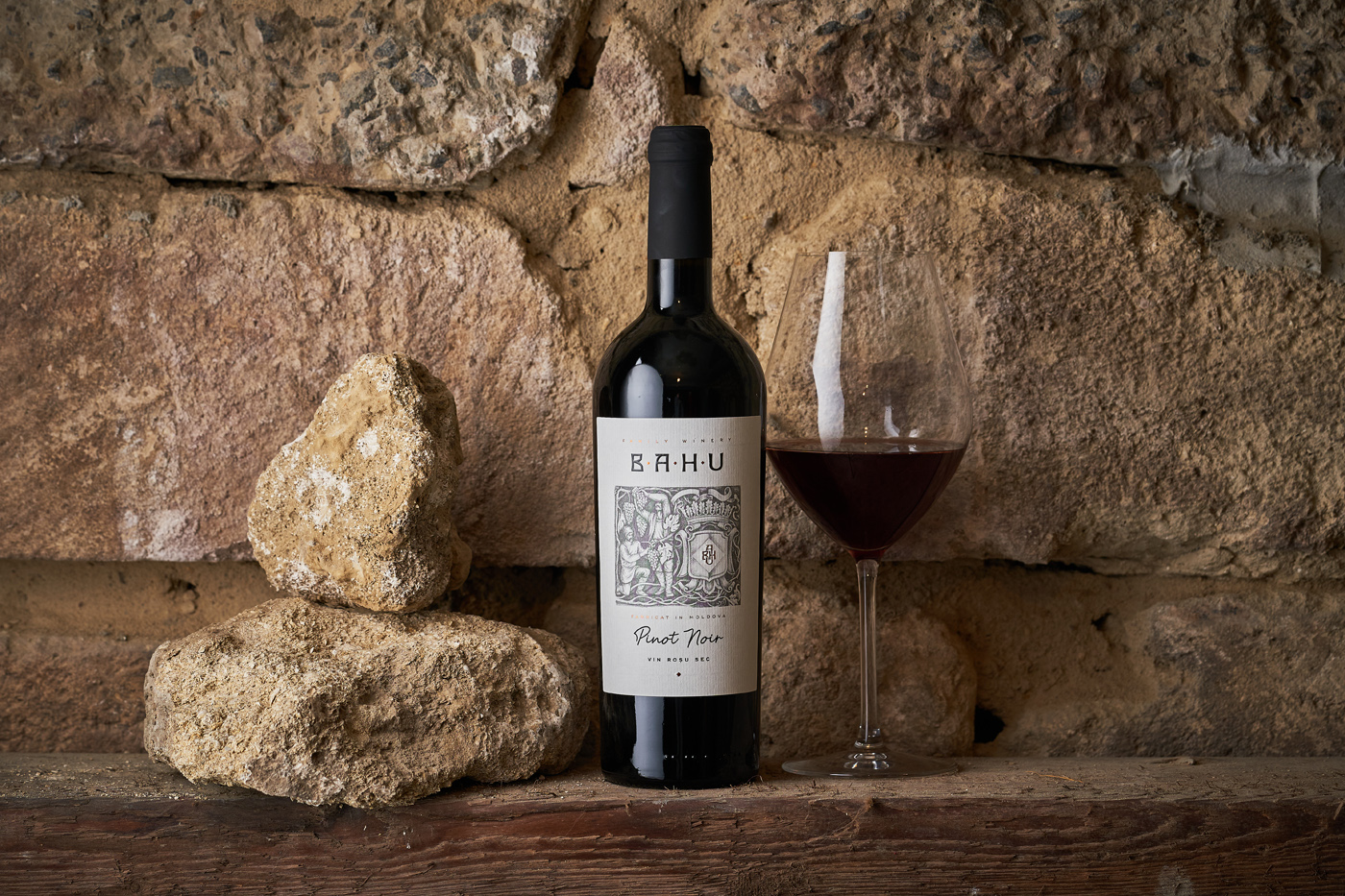 Wine Label Design for Bahu Winery by 43oz Design Studio