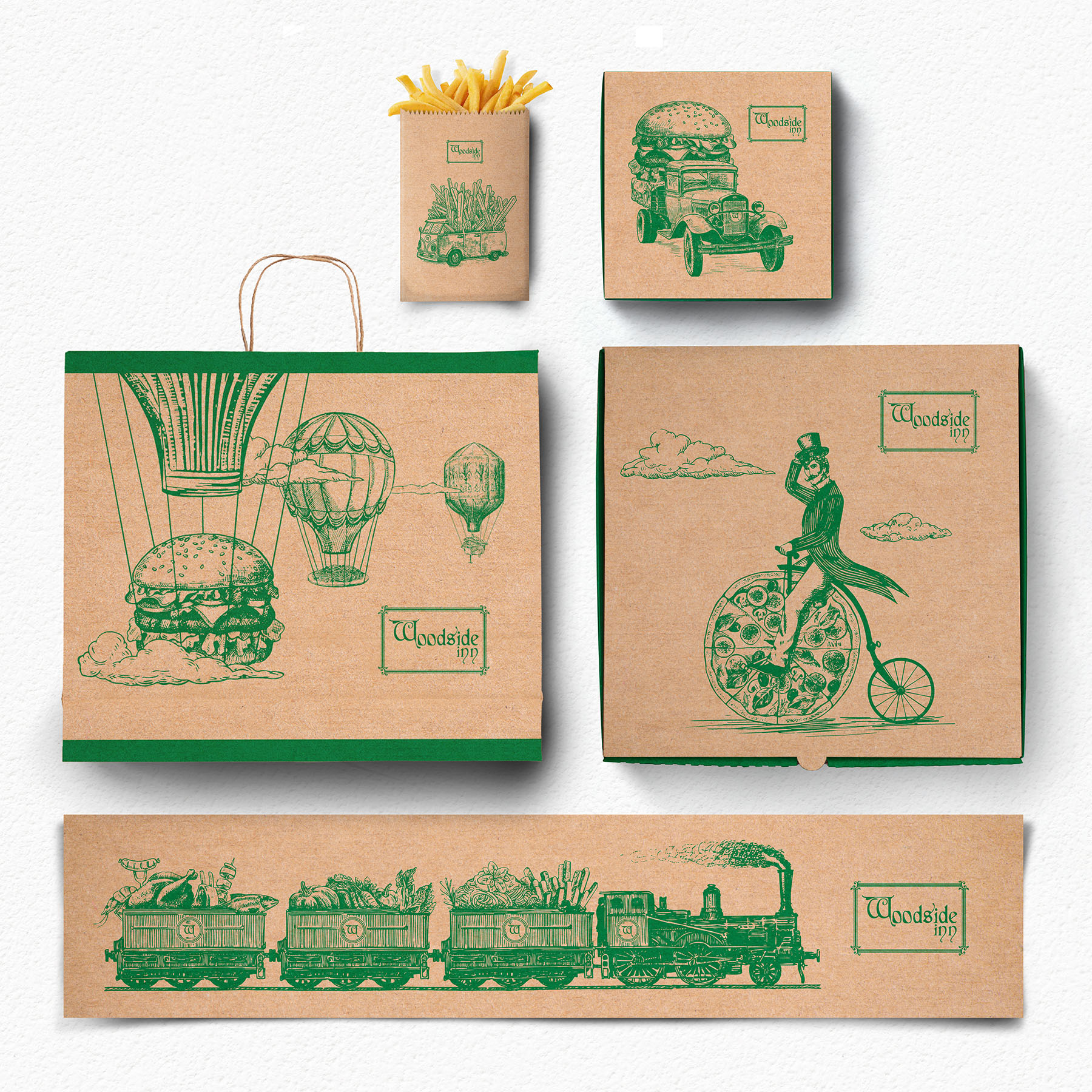 Woodside Inn Packaging Design by The Dallas Company