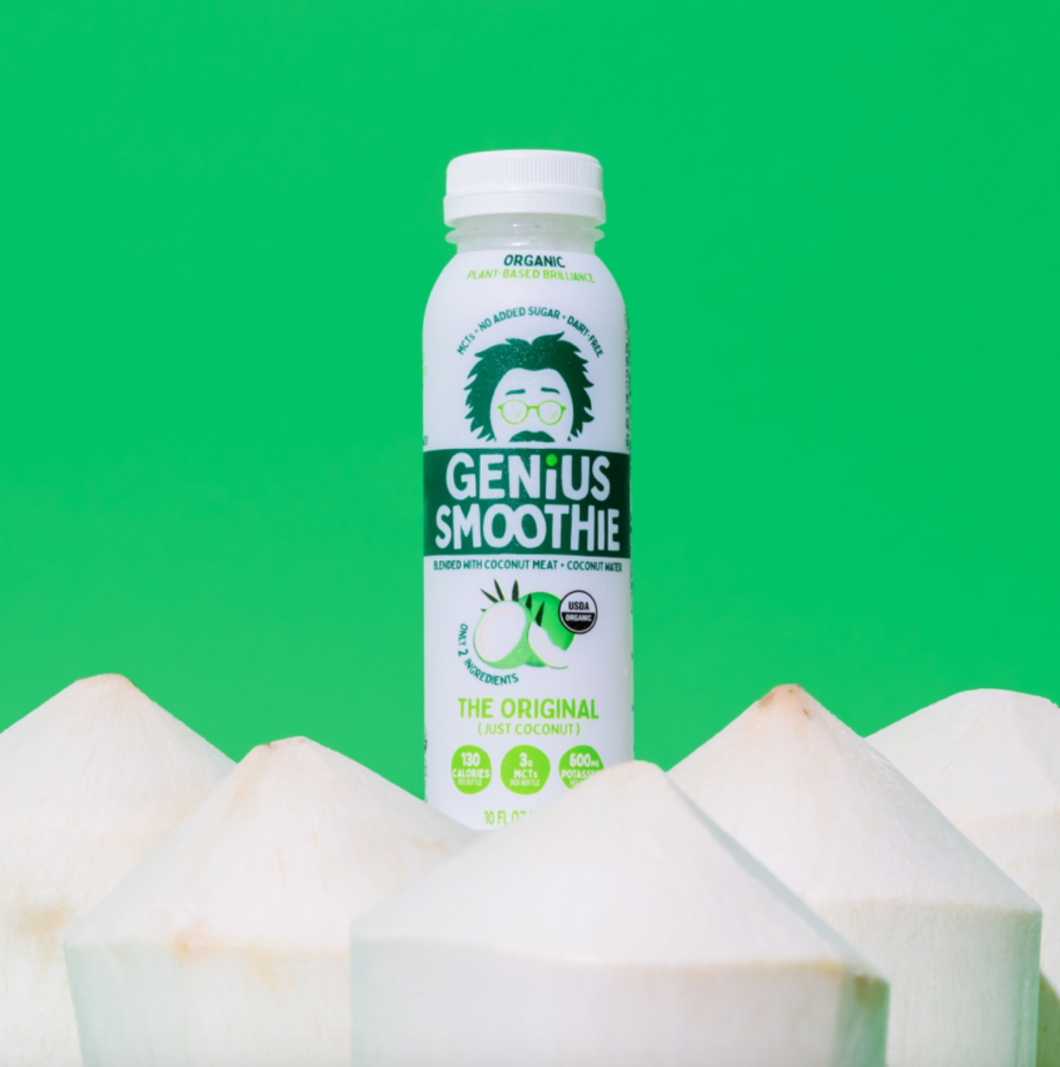 Rook/NYC Designs Playful Packaging Refresh for Shark Tank Success Story Genius Juice