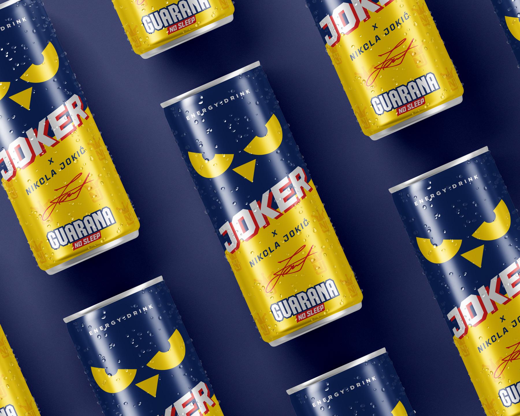 NUL Apps Belgrade Create Brand and Packaging forfor Guarana Joker Energy Drinks