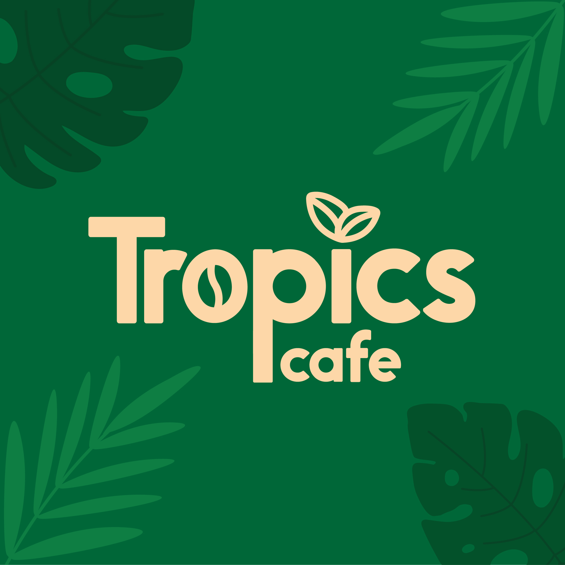 Gyanish Sham Creates Graphic Interior Identity for Tropics Cafe