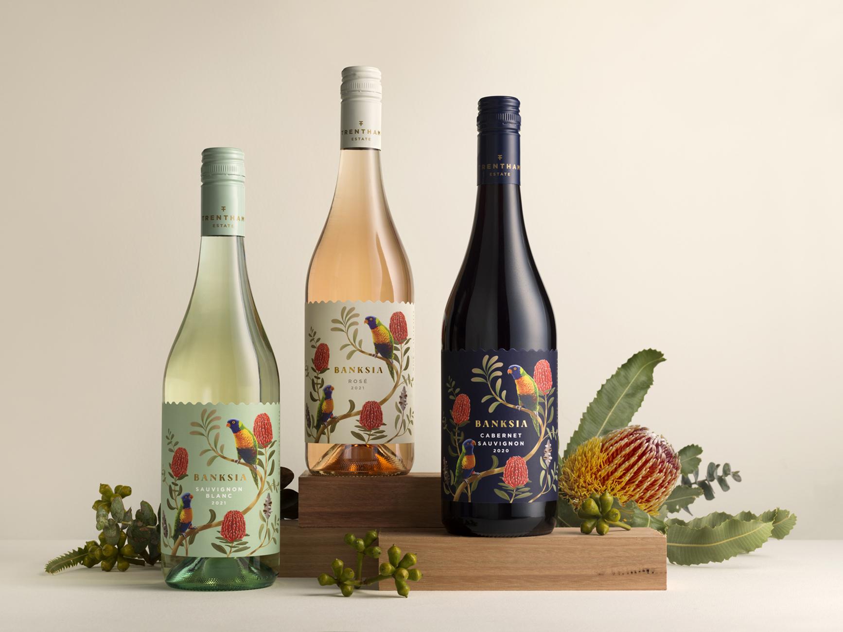 Design Energy Created Banksia Range of Wine Labels for Trentham Estate