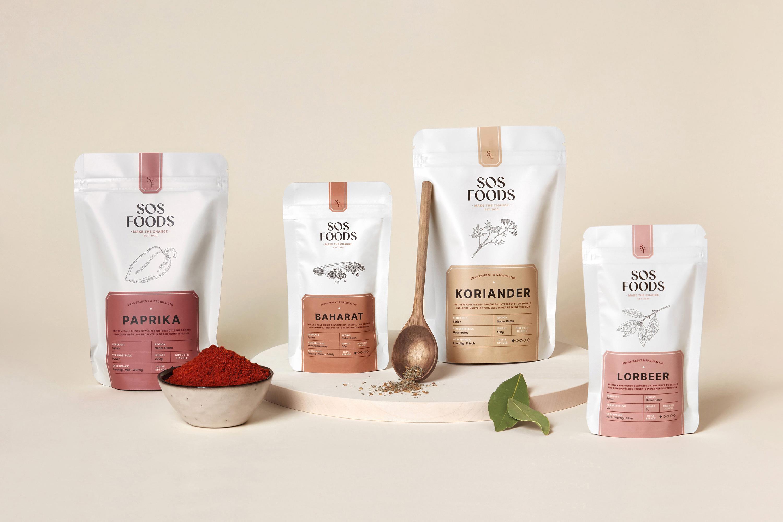 Caroline Rubik Creates SOS Foods Packaging Design Range
