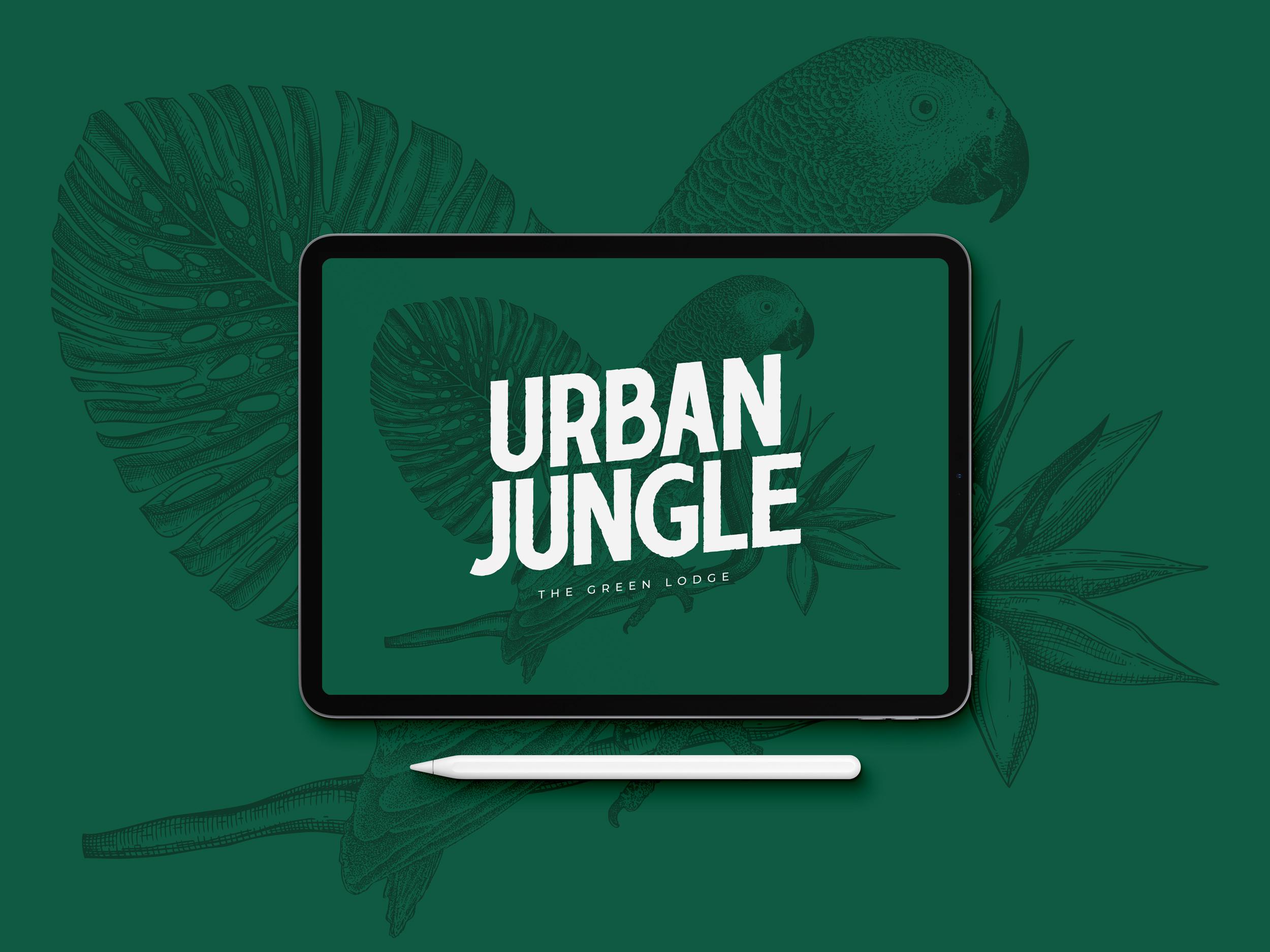 Urban Jungle Minimalist Hotel Branding by Buckwild