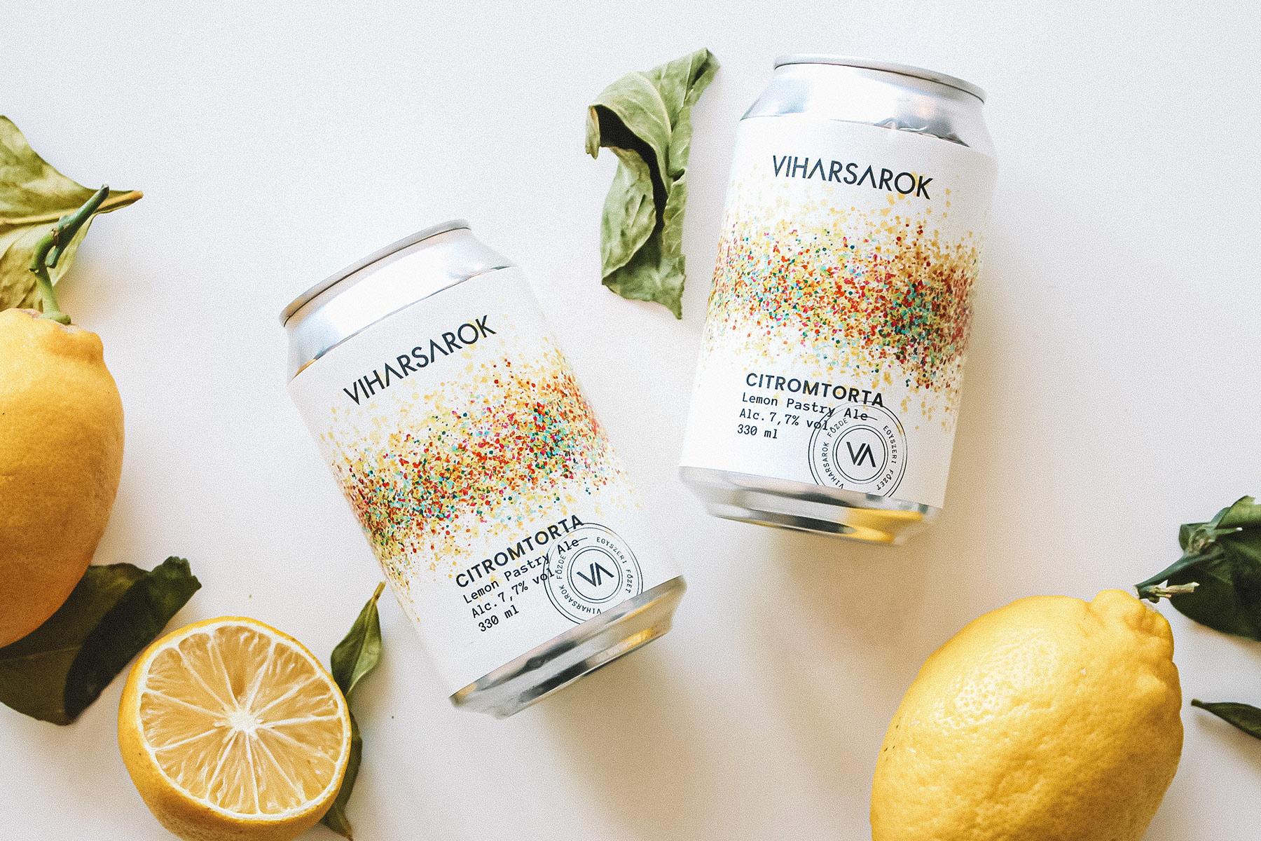 Packaging Design for Viharsarok Lemon Meringue Pie Limited Edition Craft Beer by Studio Nabi